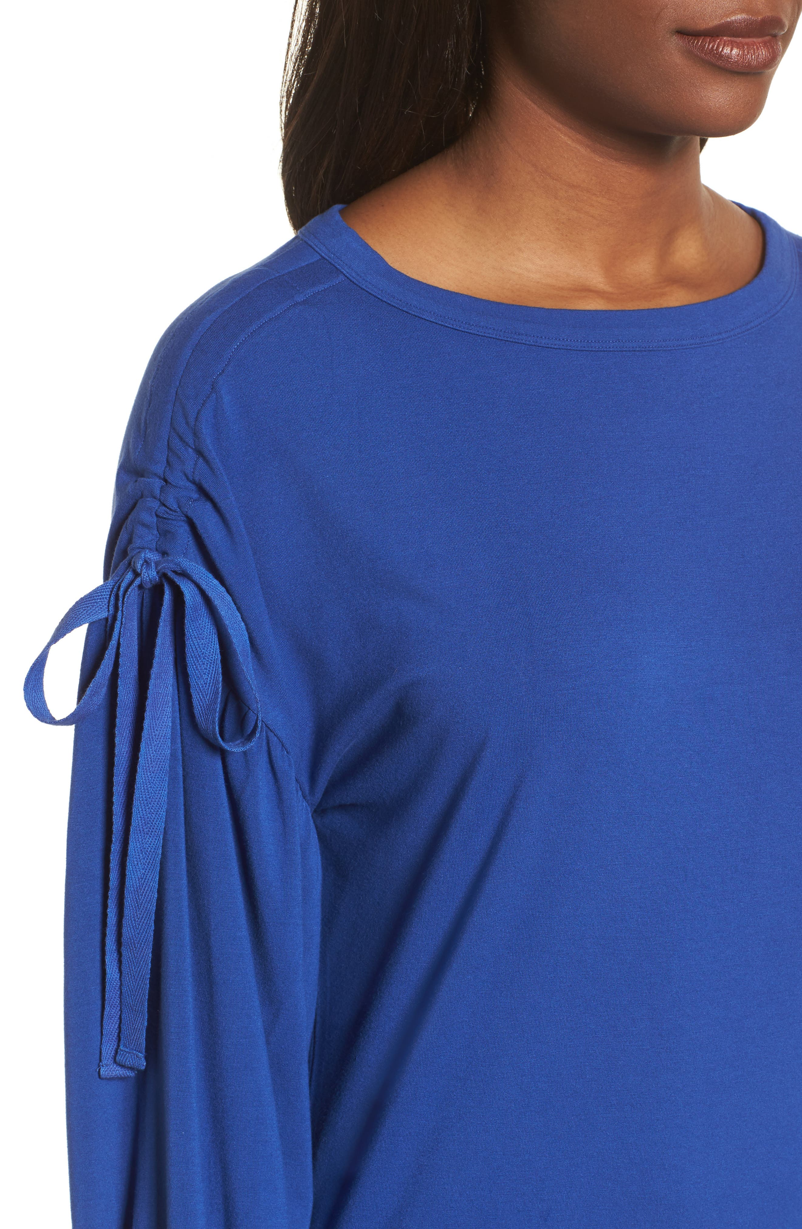Ruched Bow Sleeve Top,                             Alternate thumbnail 15, color,