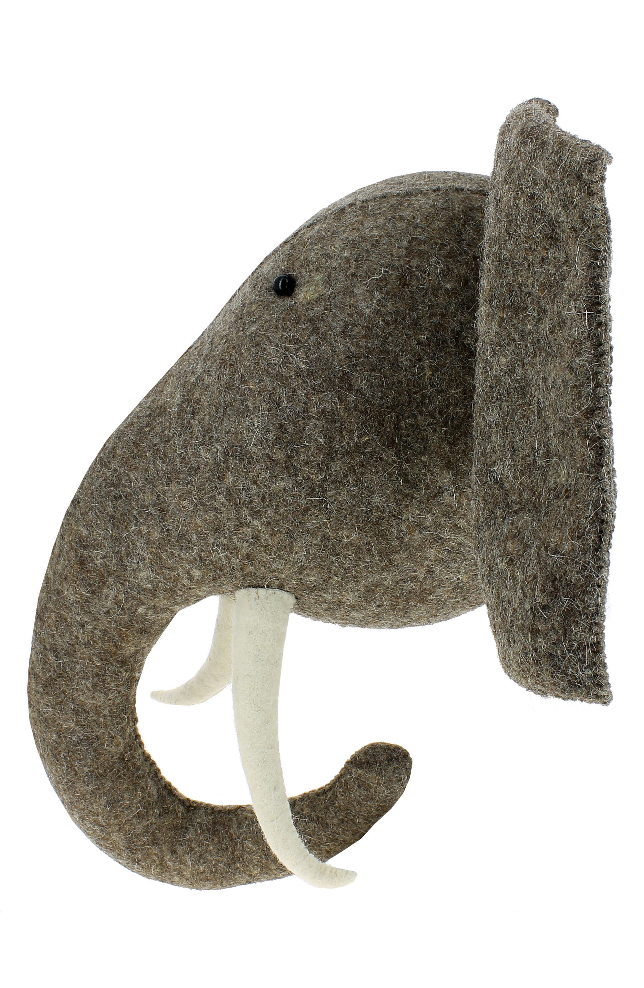 Elephant Head with Tusks Wall Art,                             Alternate thumbnail 2, color,                             GREY