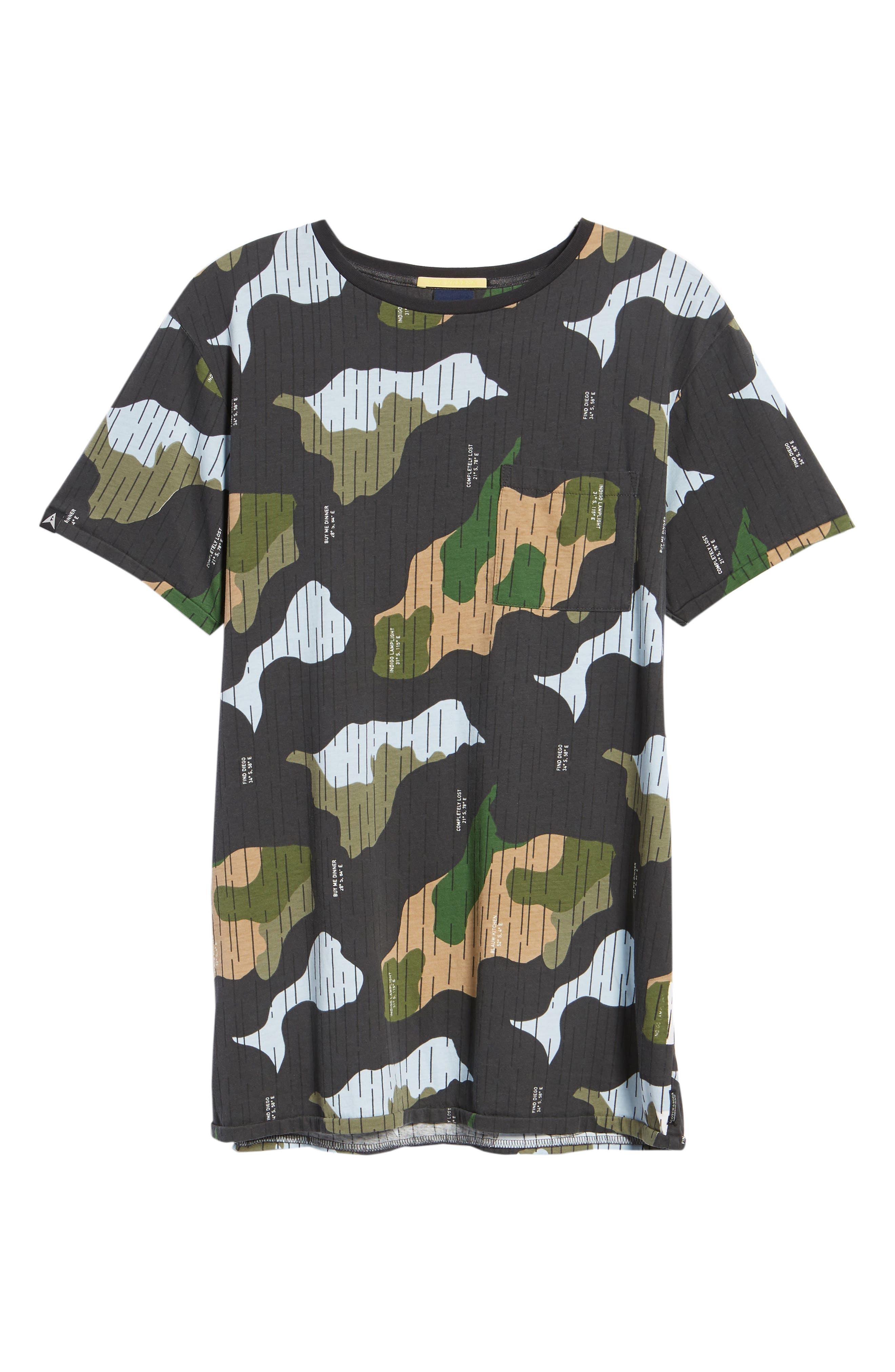 Camo Print T-Shirt,                             Alternate thumbnail 6, color,                             CAMO
