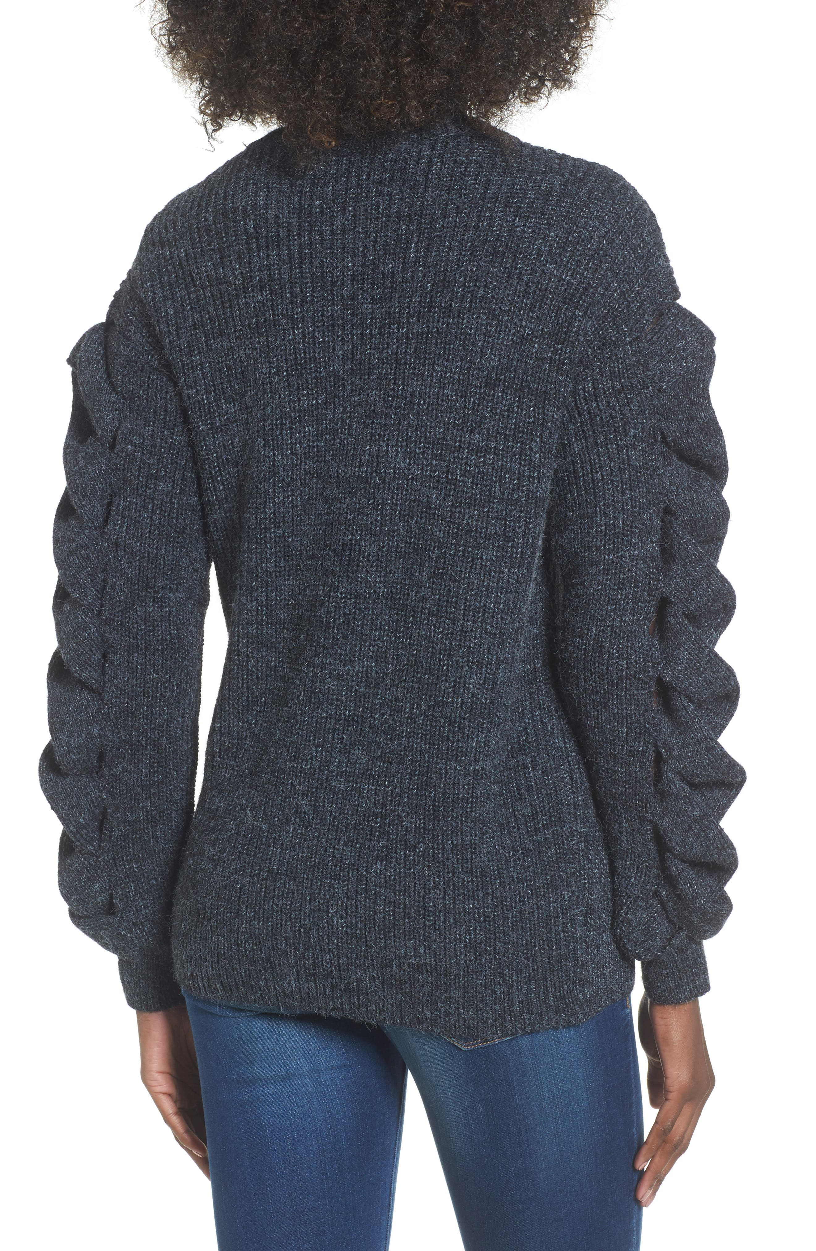 Twist Sleeve Sweater,                             Alternate thumbnail 2, color,                             030