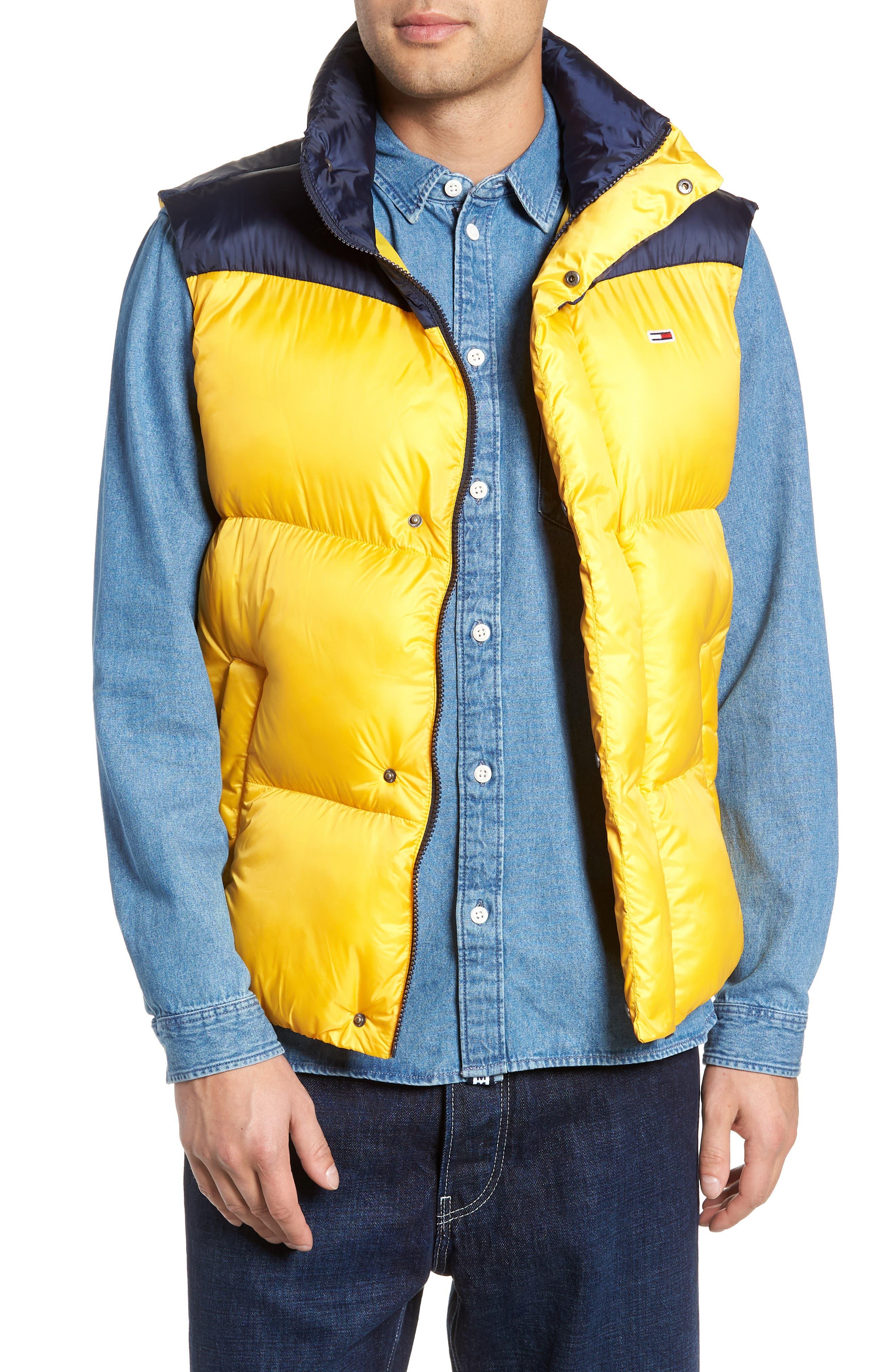 TJM Tommy Classics Vest,                             Main thumbnail 1, color,                             SPECTRA YELLOW / BLACK IRIS