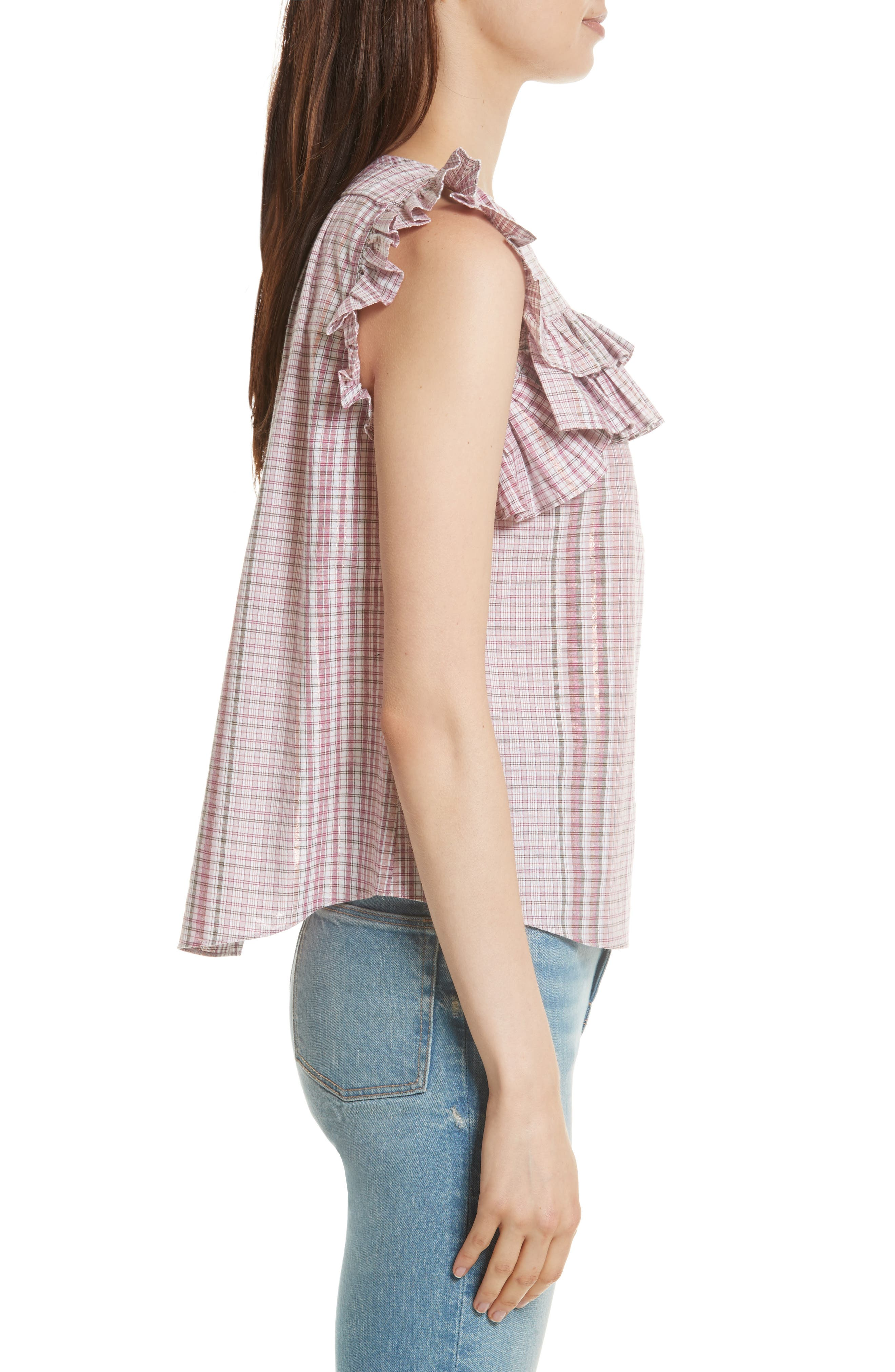 Lurex<sup>®</sup> Plaid Top,                             Alternate thumbnail 3, color,
