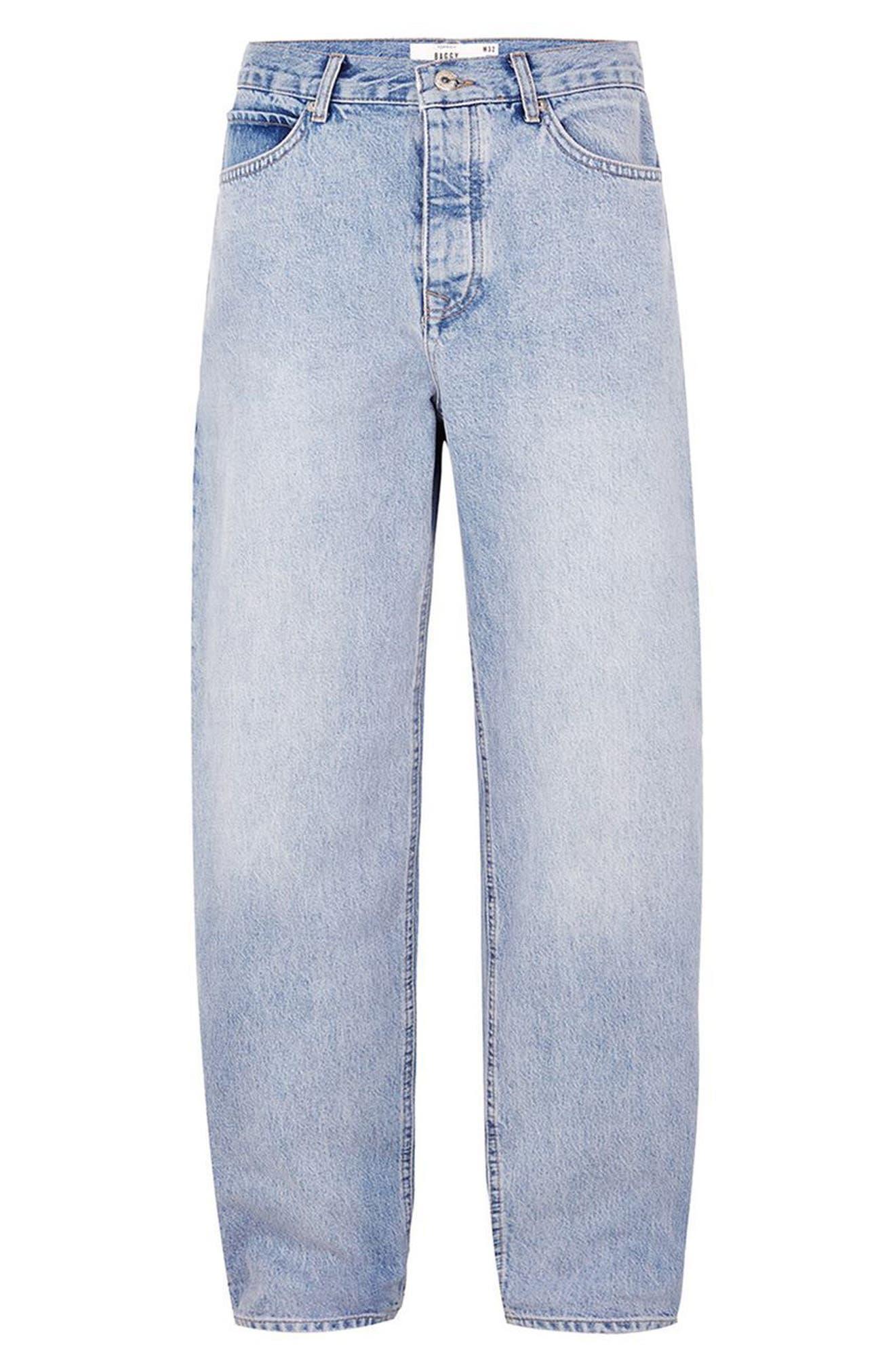 Baggy Fit Jeans,                             Alternate thumbnail 4, color,                             BLUE