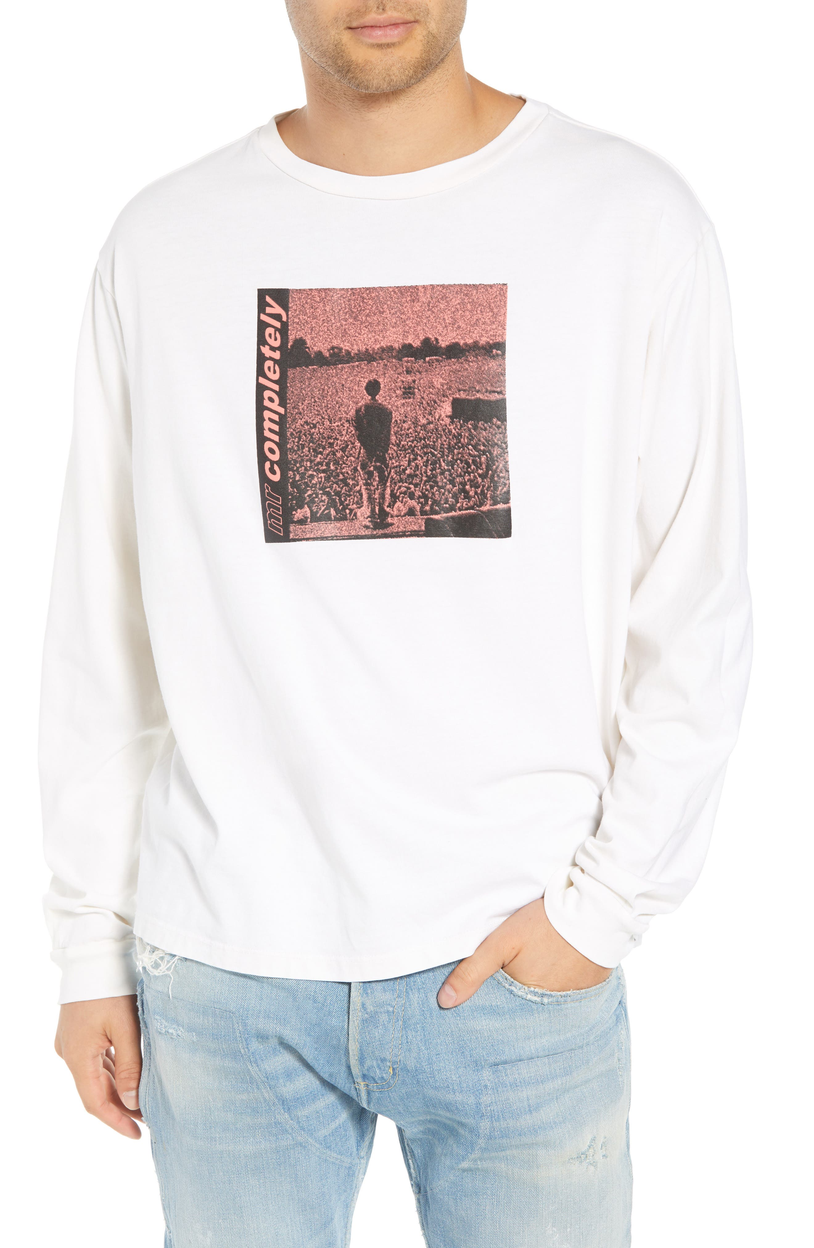 MR. COMPLETELY Oasis Oversize Long Sleeve T-Shirt in White