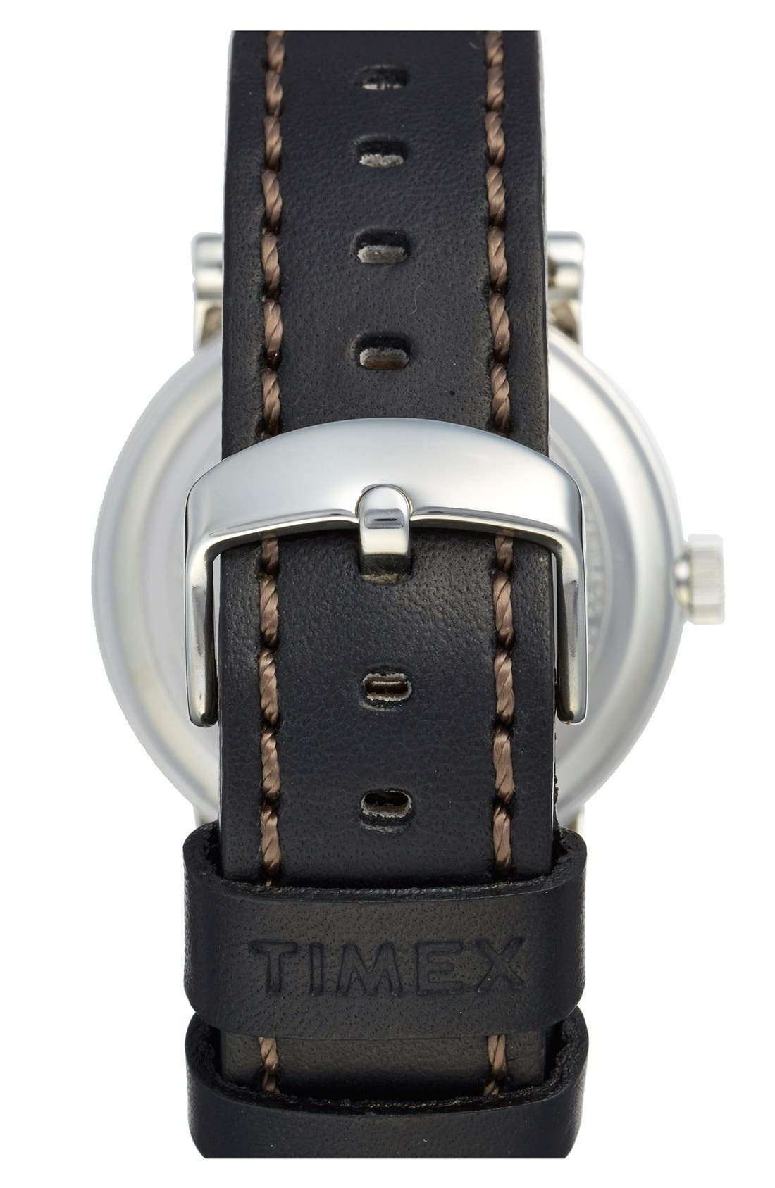 Waterbury Leather Strap Watch, 40mm,                             Alternate thumbnail 2, color,                             001