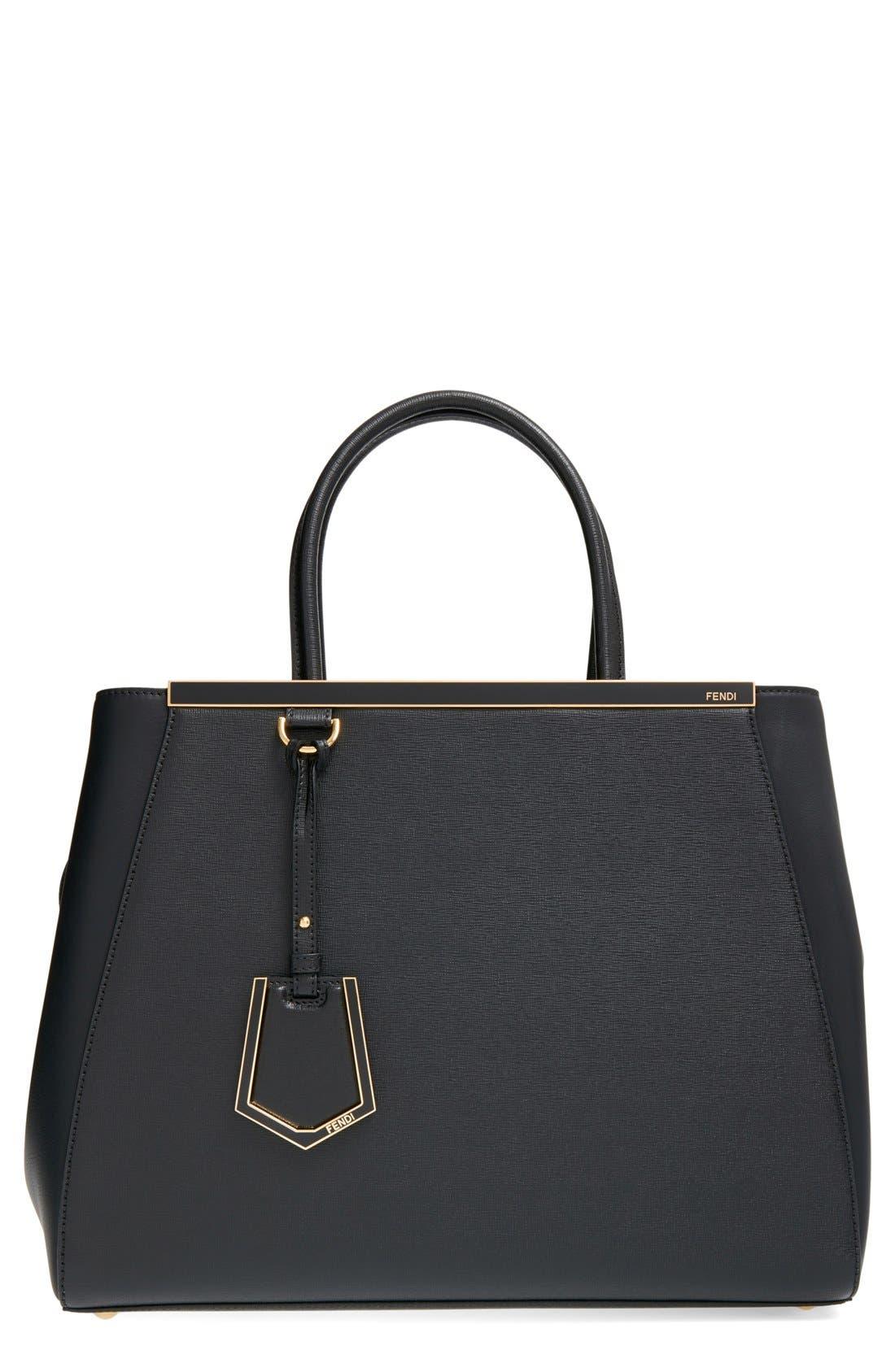 '2Jours Elite' Leather Shopper,                         Main,                         color, 001
