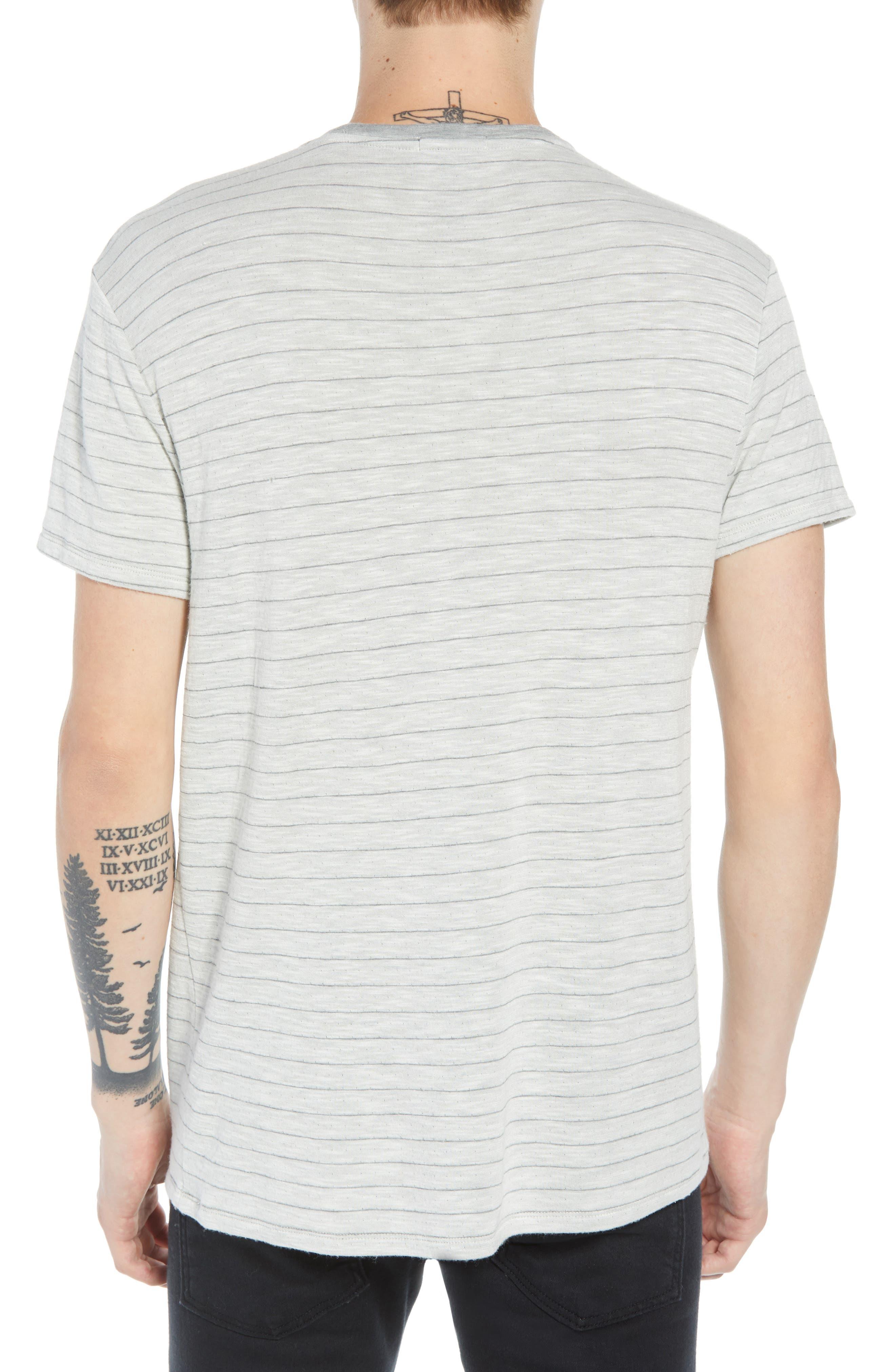 Slim Fit Stripe Slub Jersey T-Shirt,                             Alternate thumbnail 2, color,                             069