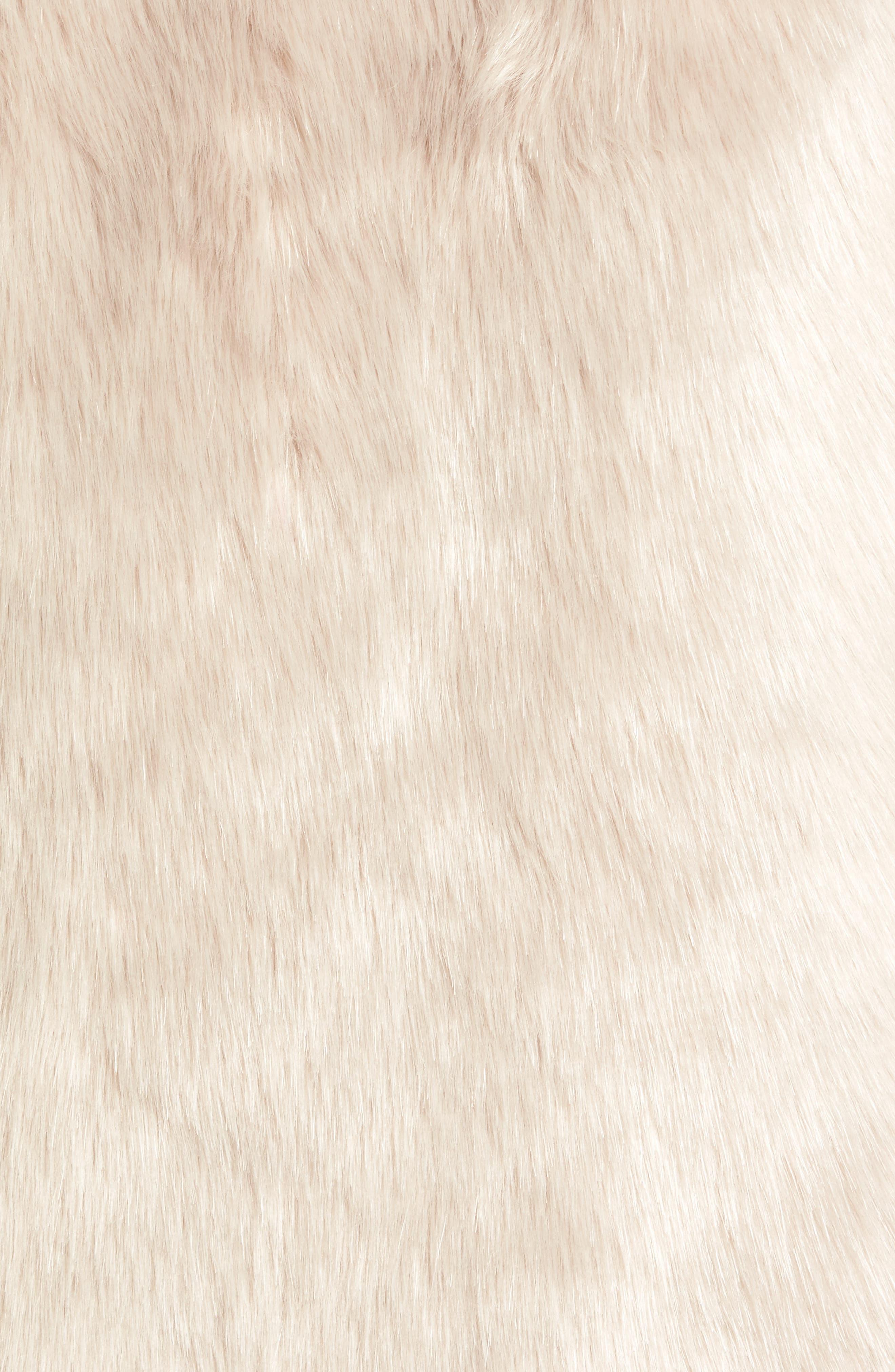 Faux Fur Coat,                             Alternate thumbnail 6, color,                             900