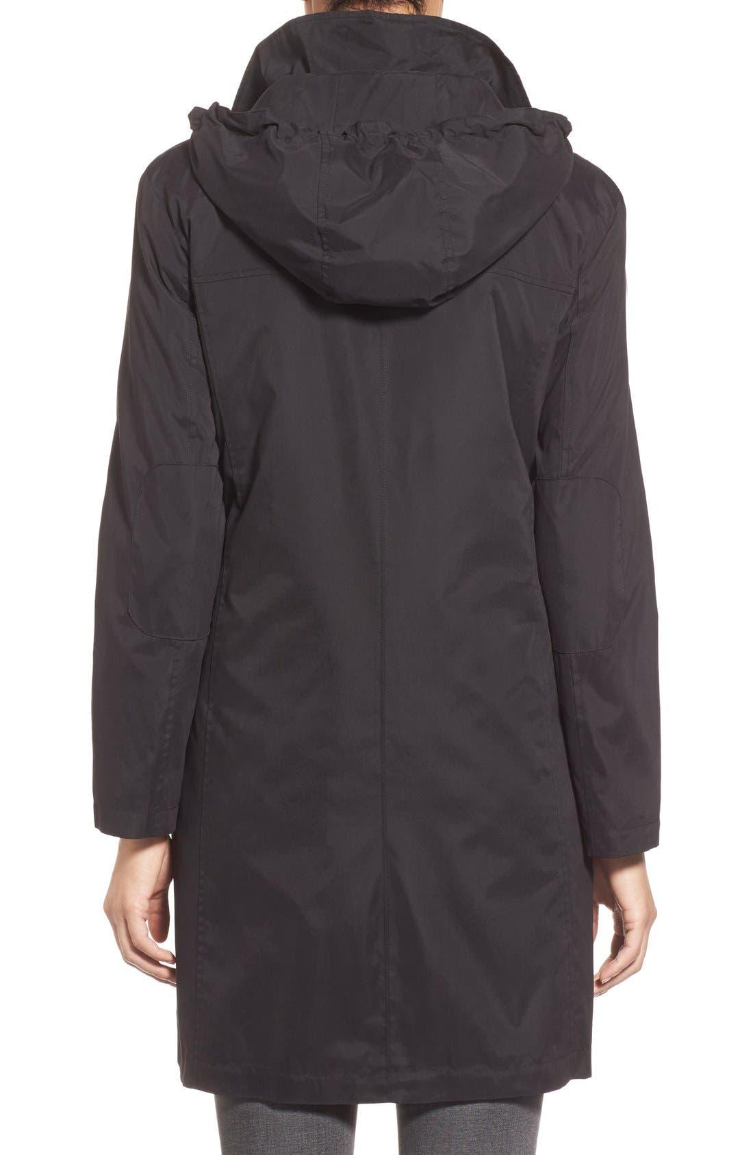 A-Line Raincoat with Detachable Hood,                             Alternate thumbnail 2, color,                             001