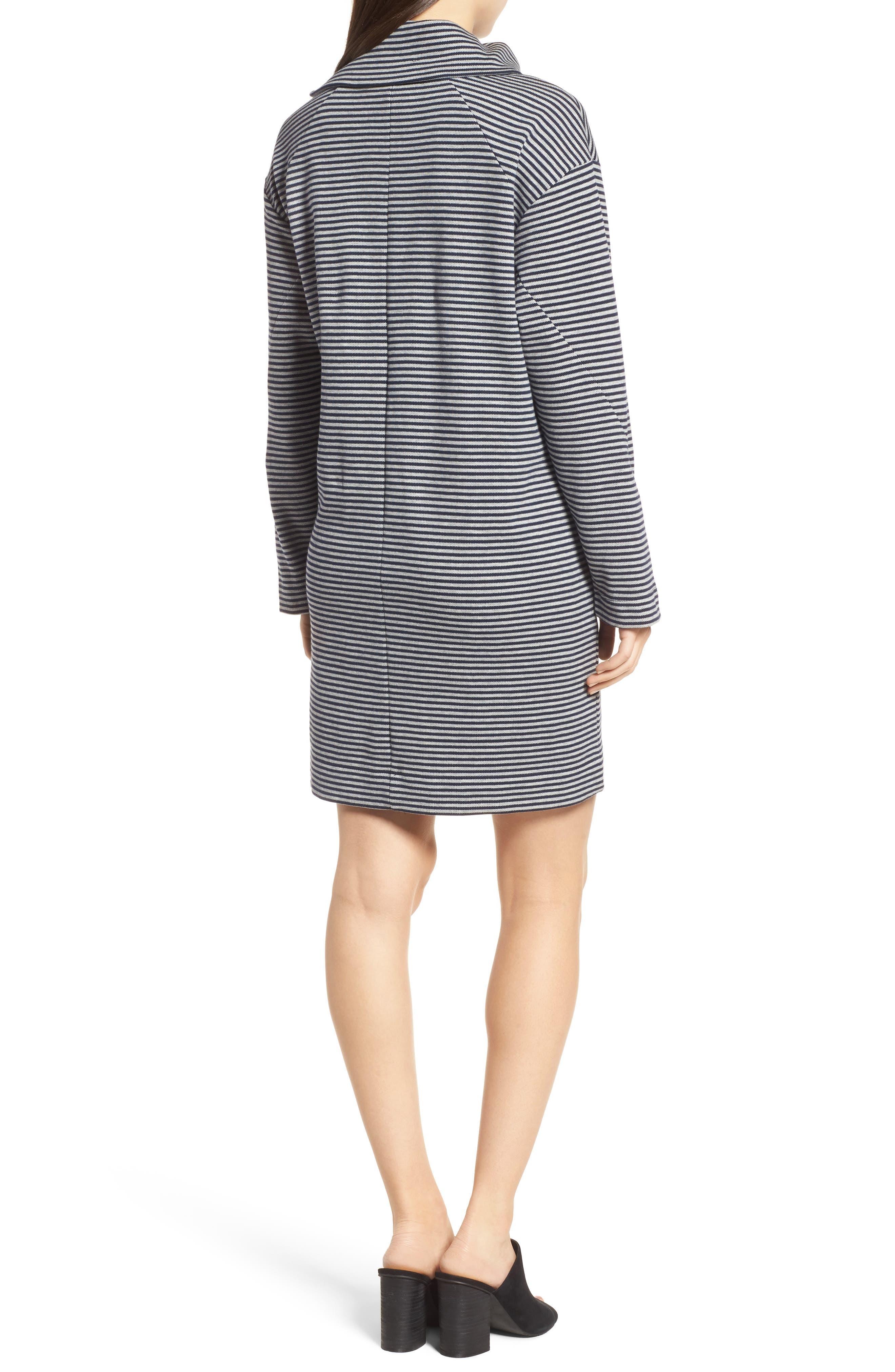 Funnel Zip Neck Dress,                             Alternate thumbnail 2, color,                             463
