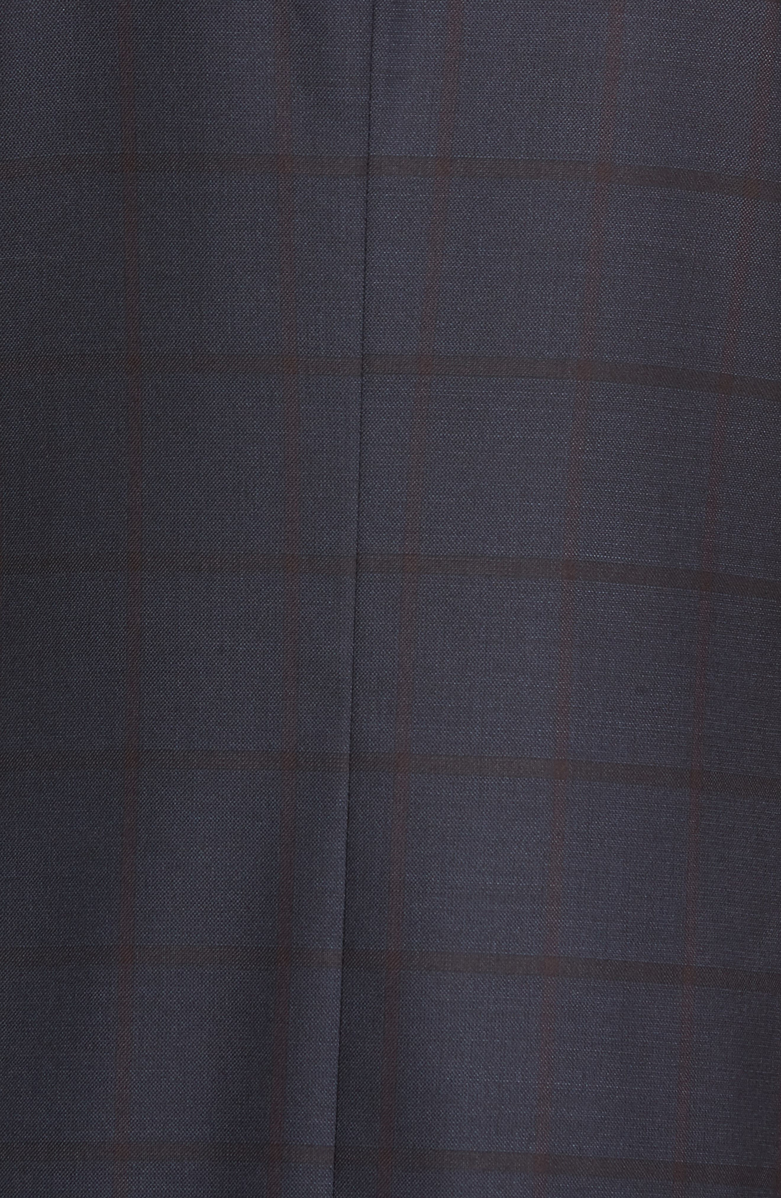 Classic Fit Windowpane Wool Suit,                             Alternate thumbnail 6, color,                             NAVY