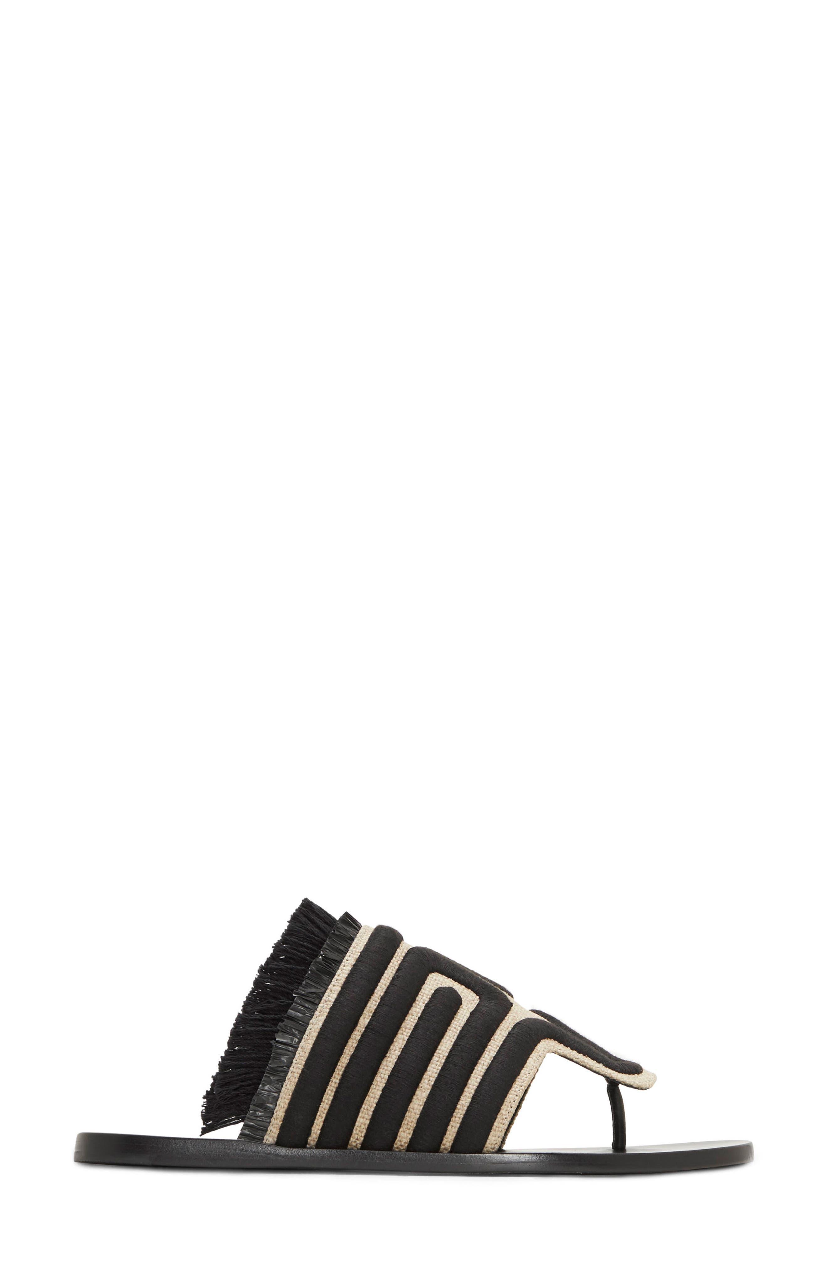 Lucara Embroidered Sandal,                             Alternate thumbnail 3, color,