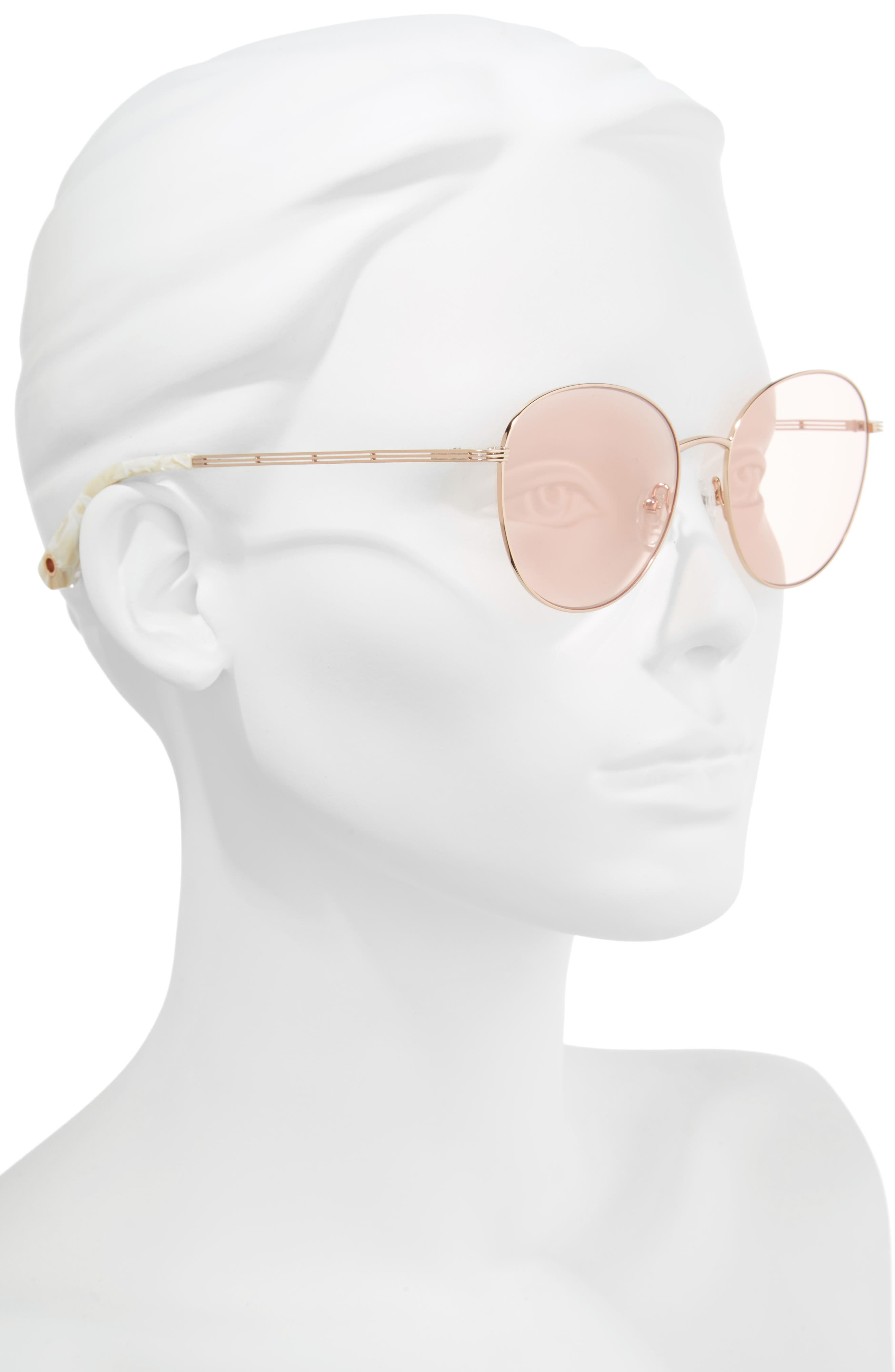 Gilmour 53mm Round Sunglasses & Beaded Chain,                             Alternate thumbnail 6, color,