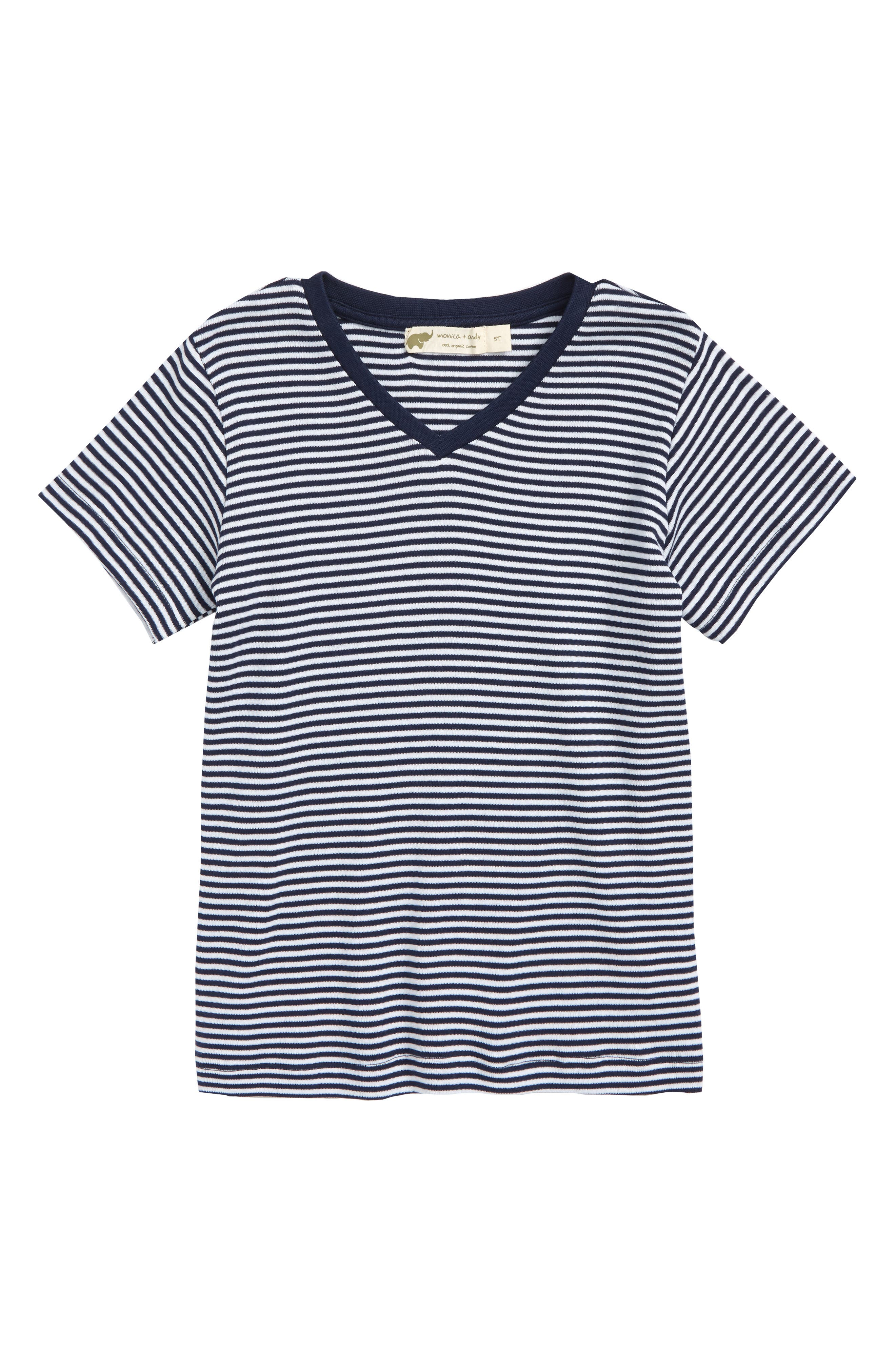 Stripe Organic Cotton T-Shirt,                         Main,                         color, 410