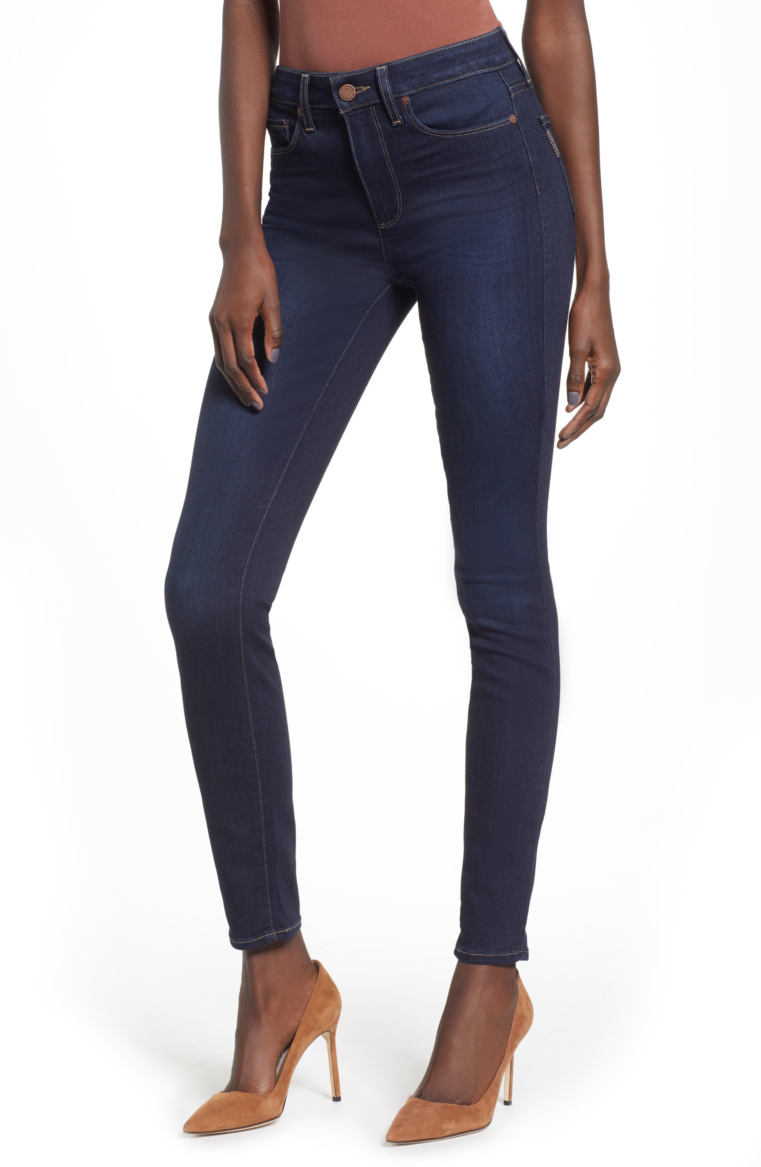 Transcend - Hoxton High Waist Ultra Skinny Jeans, Main, color, SANIA