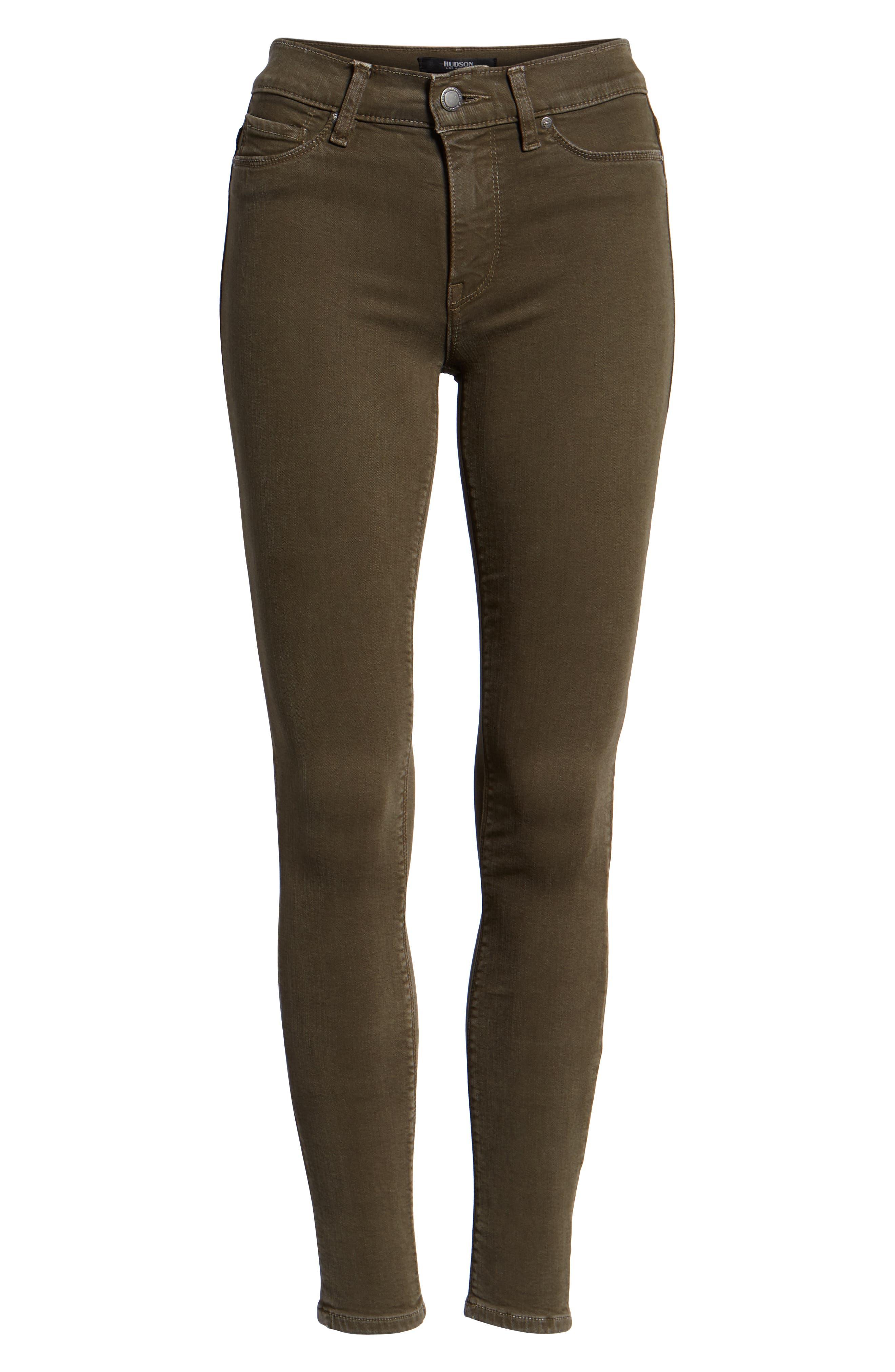 HudsonJeans Nico Super Skinny Jeans,                             Alternate thumbnail 7, color,                             DISTRESSED DARK FORESTER
