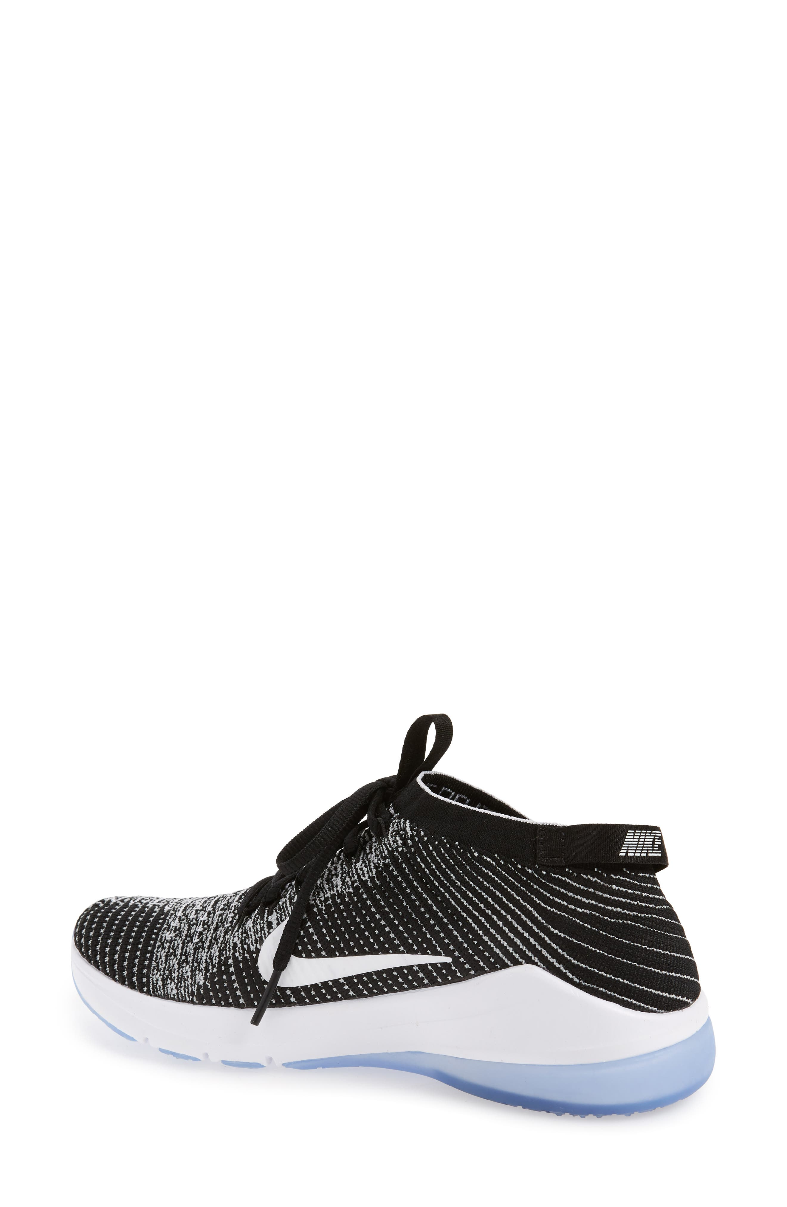 Air Zoom Fearless Flyknit 2 Training Sneaker,                             Alternate thumbnail 2, color,                             BLACK/ WHITE