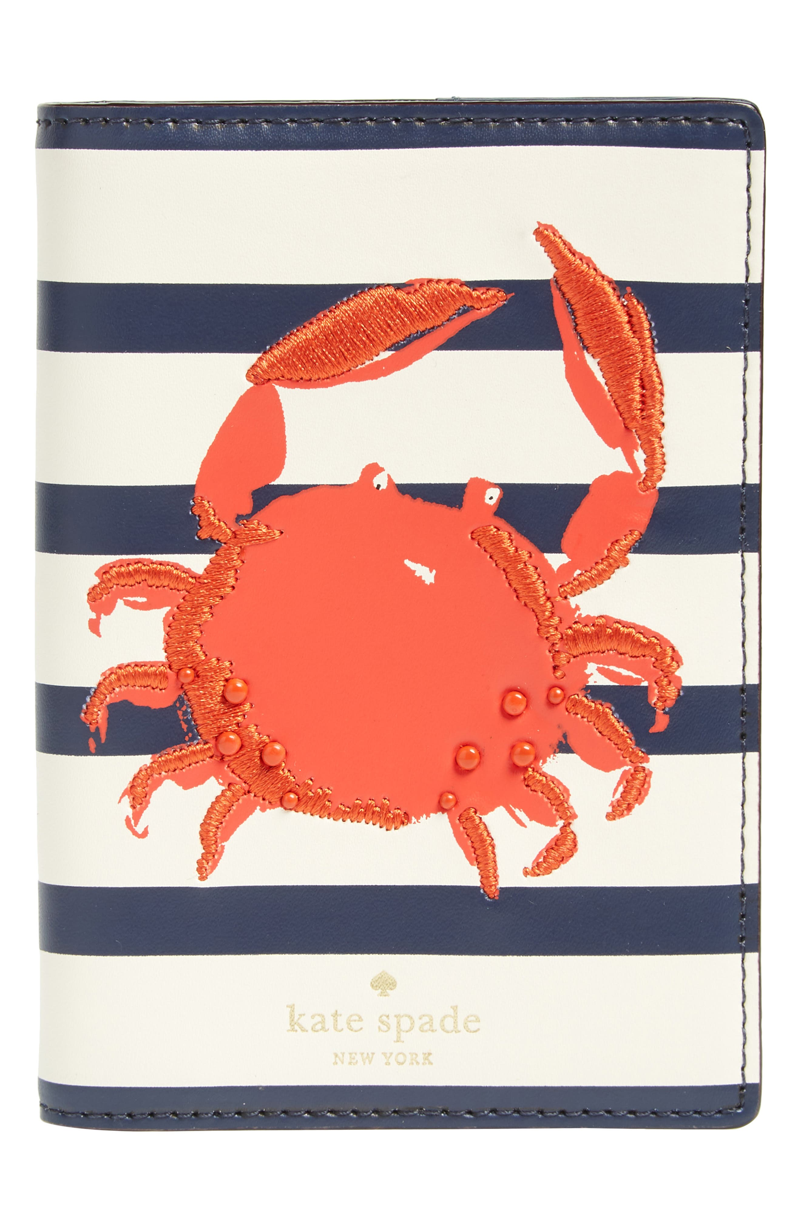 shore thing - crab leather passport holder,                         Main,                         color, 600