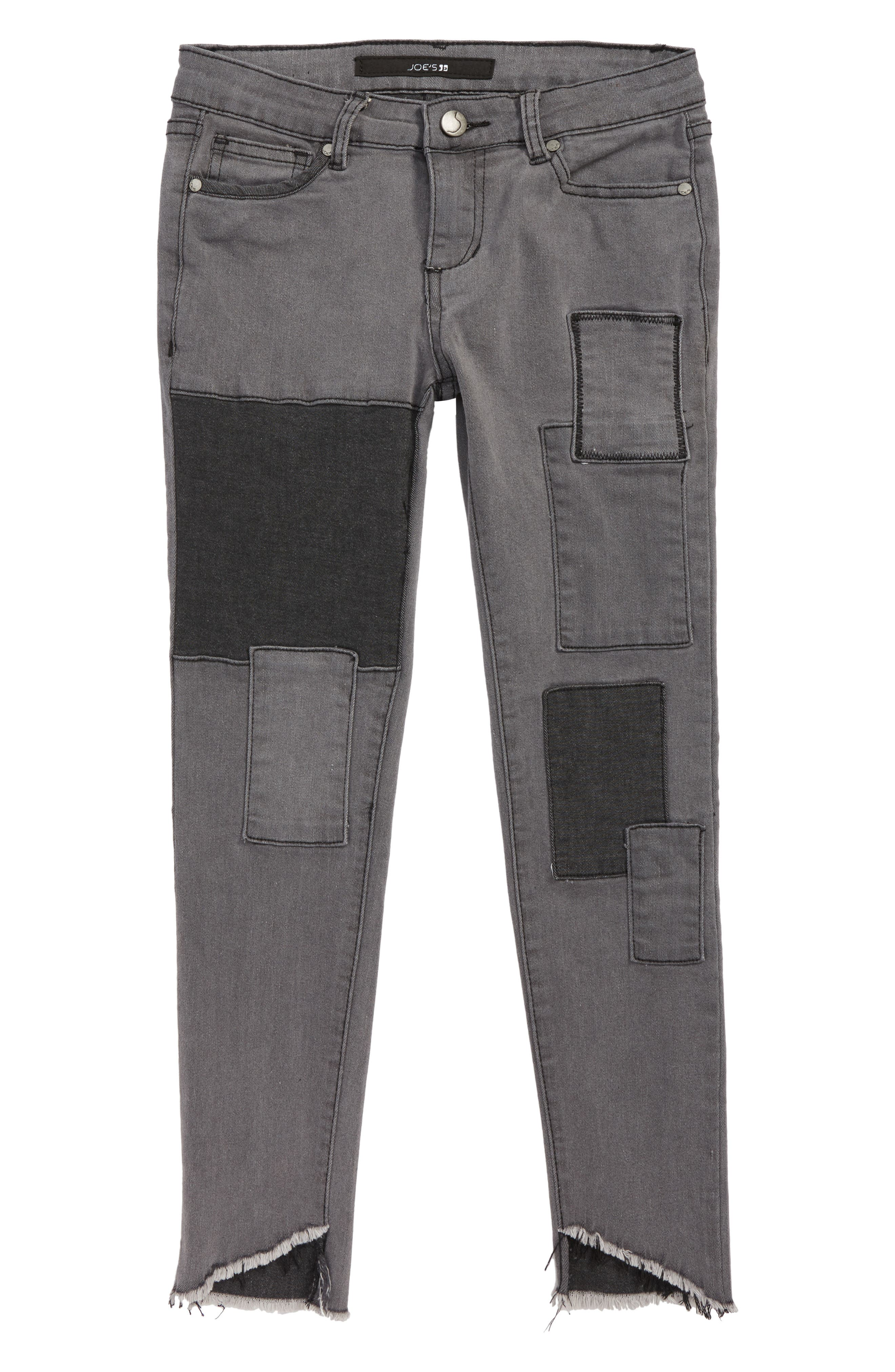 The Markie Distressed Ankle Skinny Jeans,                             Main thumbnail 1, color,                             ASH