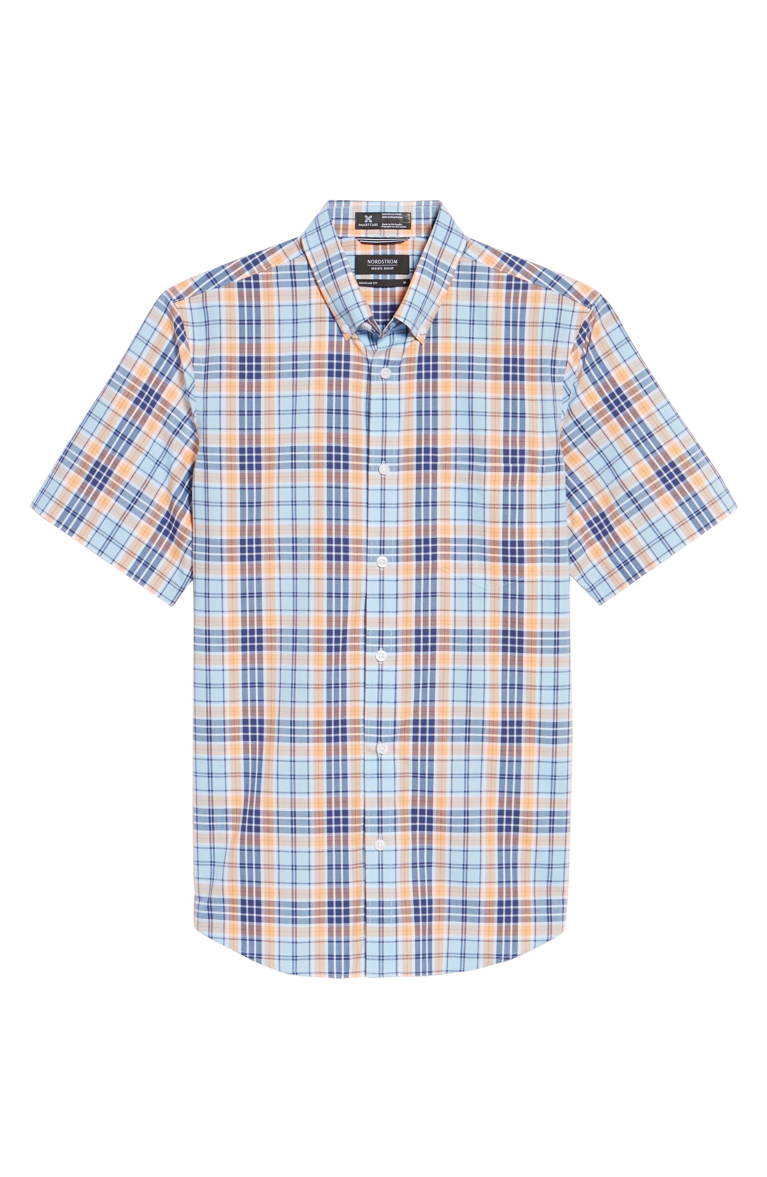 Smartcare<sup>™</sup> Regular Fit Plaid Sport Shirt,                             Alternate thumbnail 24, color,