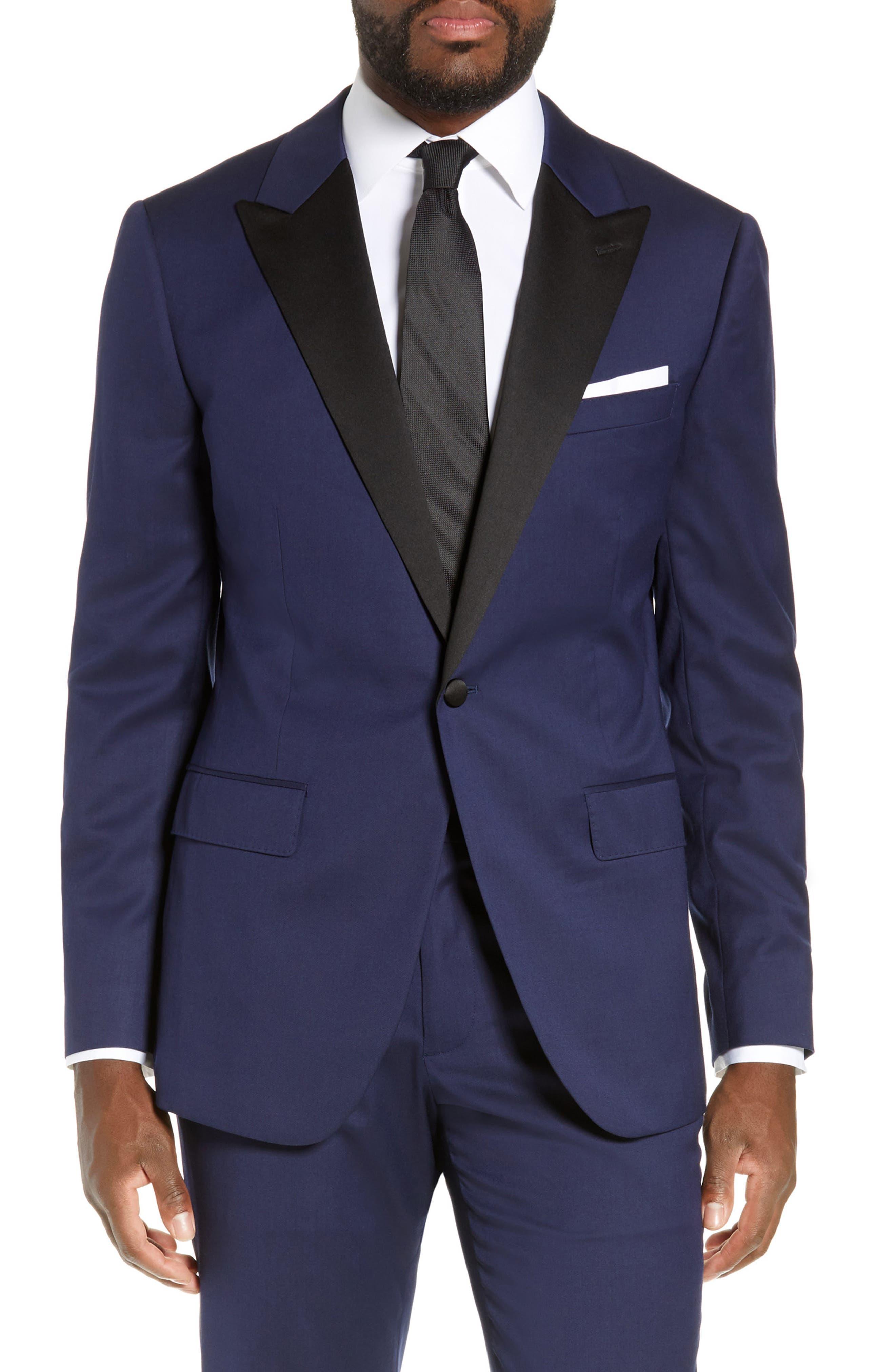 Capstone Slim Fit Italian Wool Blend Dinner Jacket,                             Main thumbnail 1, color,                             NAVY