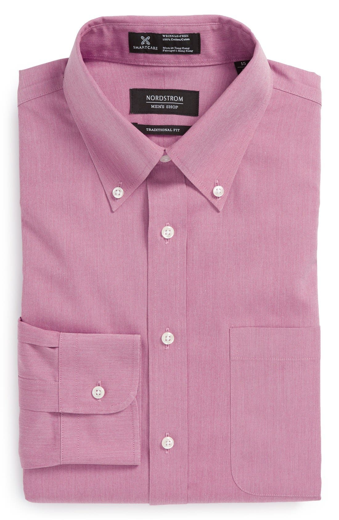 Smartcare<sup>™</sup> Traditional Fit Pinpoint Dress Shirt,                             Main thumbnail 38, color,