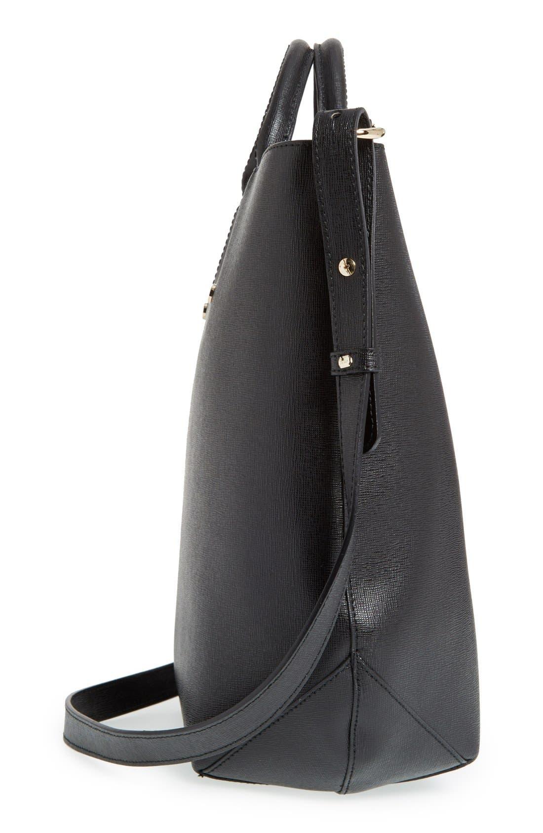 'Alissa - Large' Saffiano Leather Tote,                             Alternate thumbnail 6, color,                             001