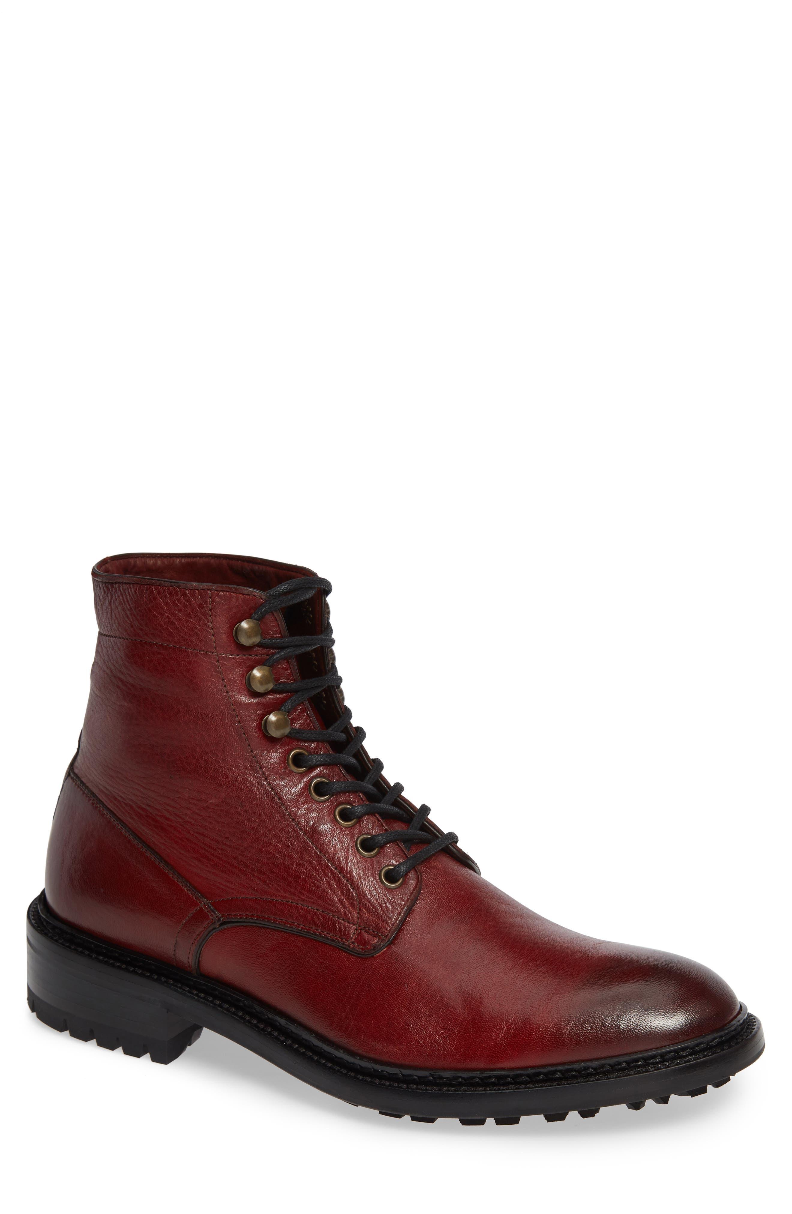 Greyson Plain Toe Boot,                             Main thumbnail 1, color,                             BURGUNDY