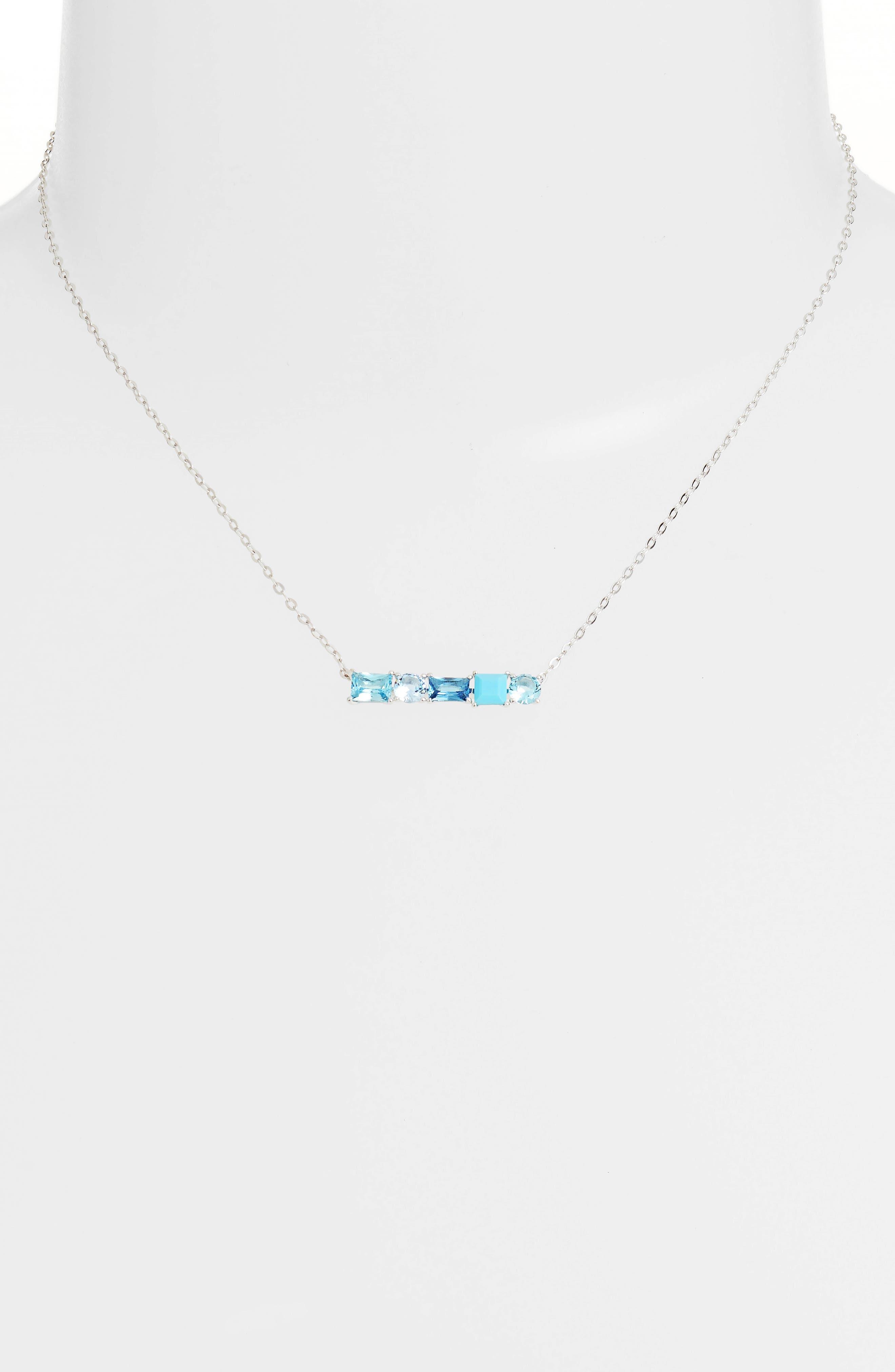 Crystal Bar Pendant Necklace,                             Alternate thumbnail 2, color,                             040