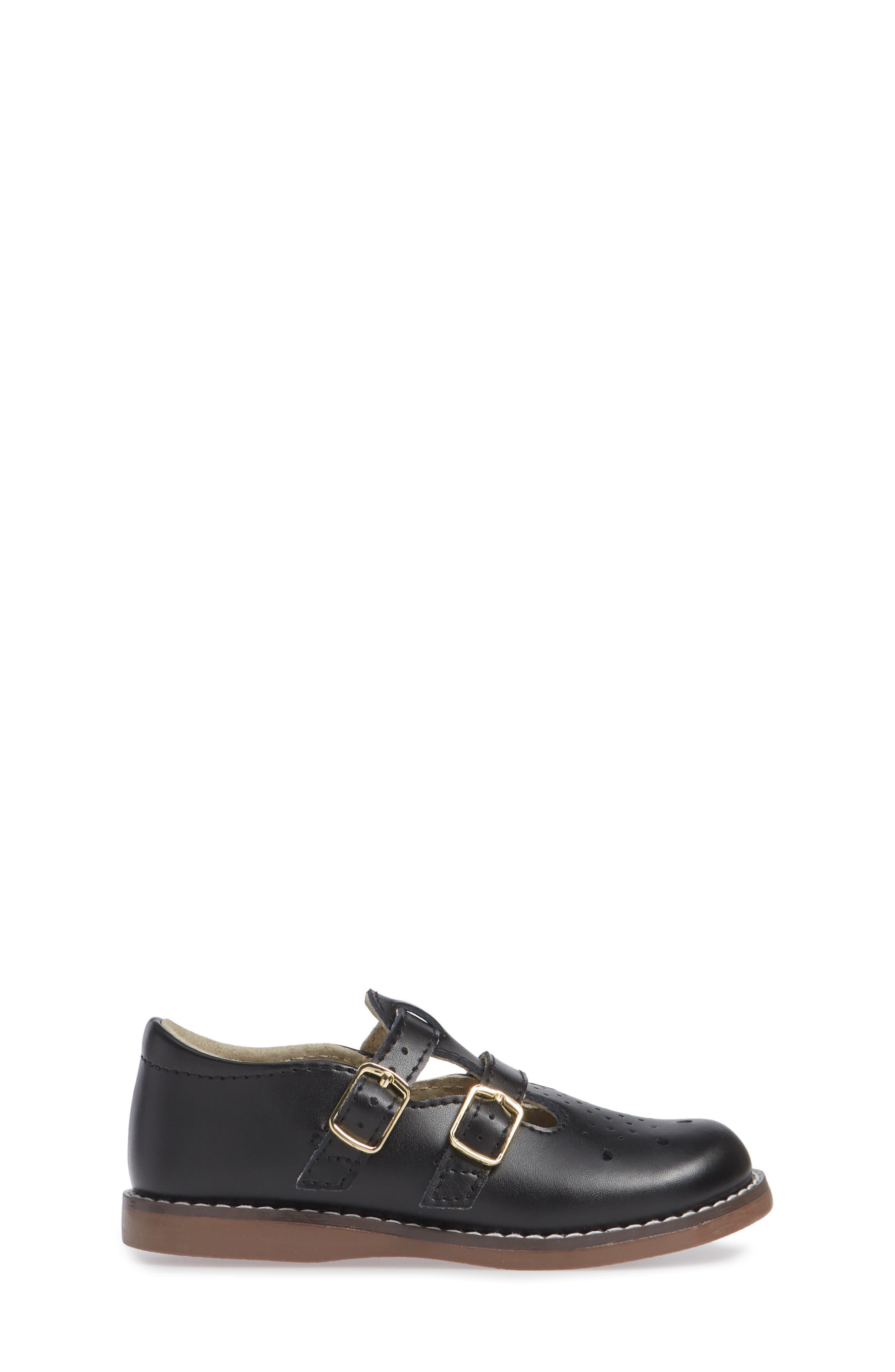 FOOTMATES,                             Danielle Double Strap Shoe,                             Alternate thumbnail 3, color,                             BLACK