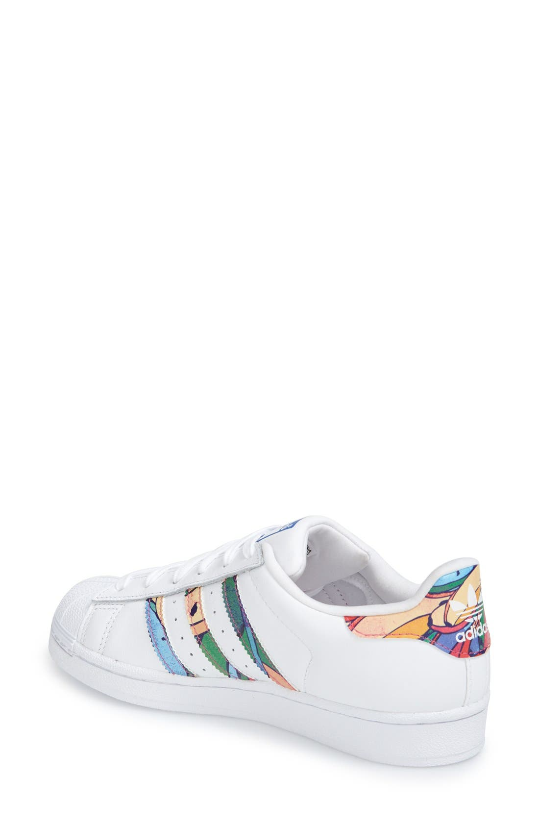 'Superstar' Print Sneaker,                             Alternate thumbnail 4, color,                             107