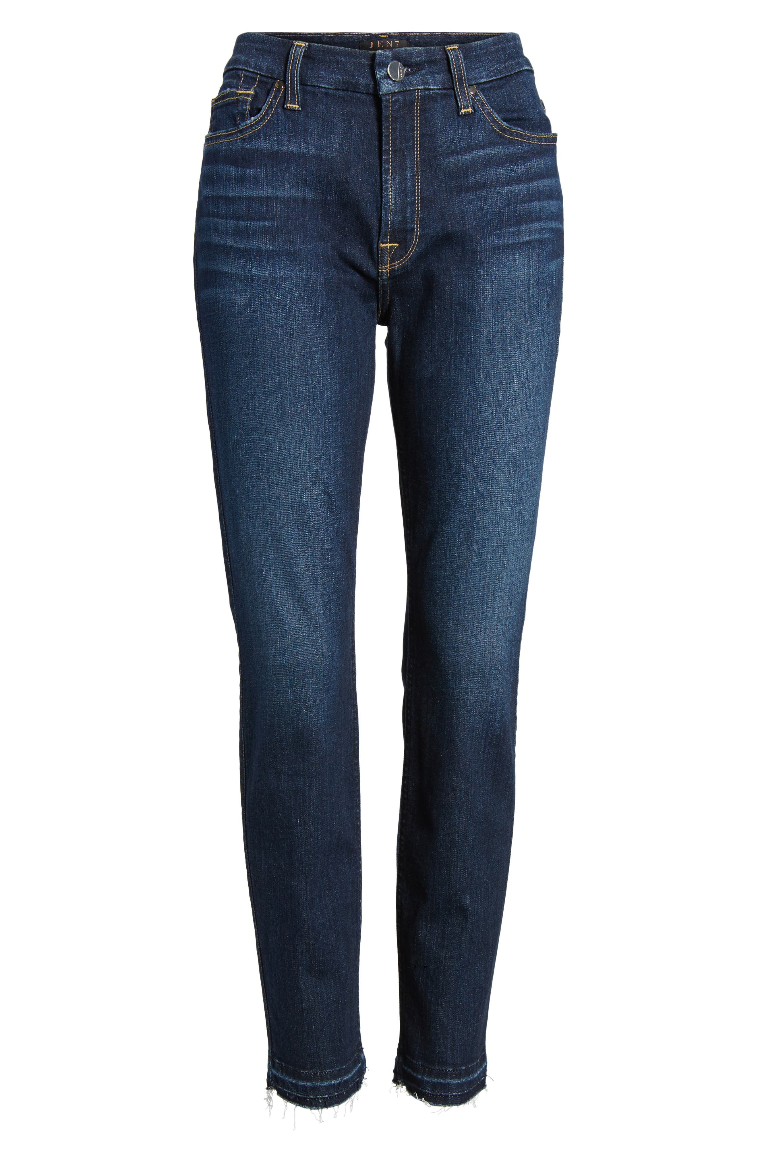 Release Hem Stretch Ankle Skinny Jeans,                             Alternate thumbnail 16, color,
