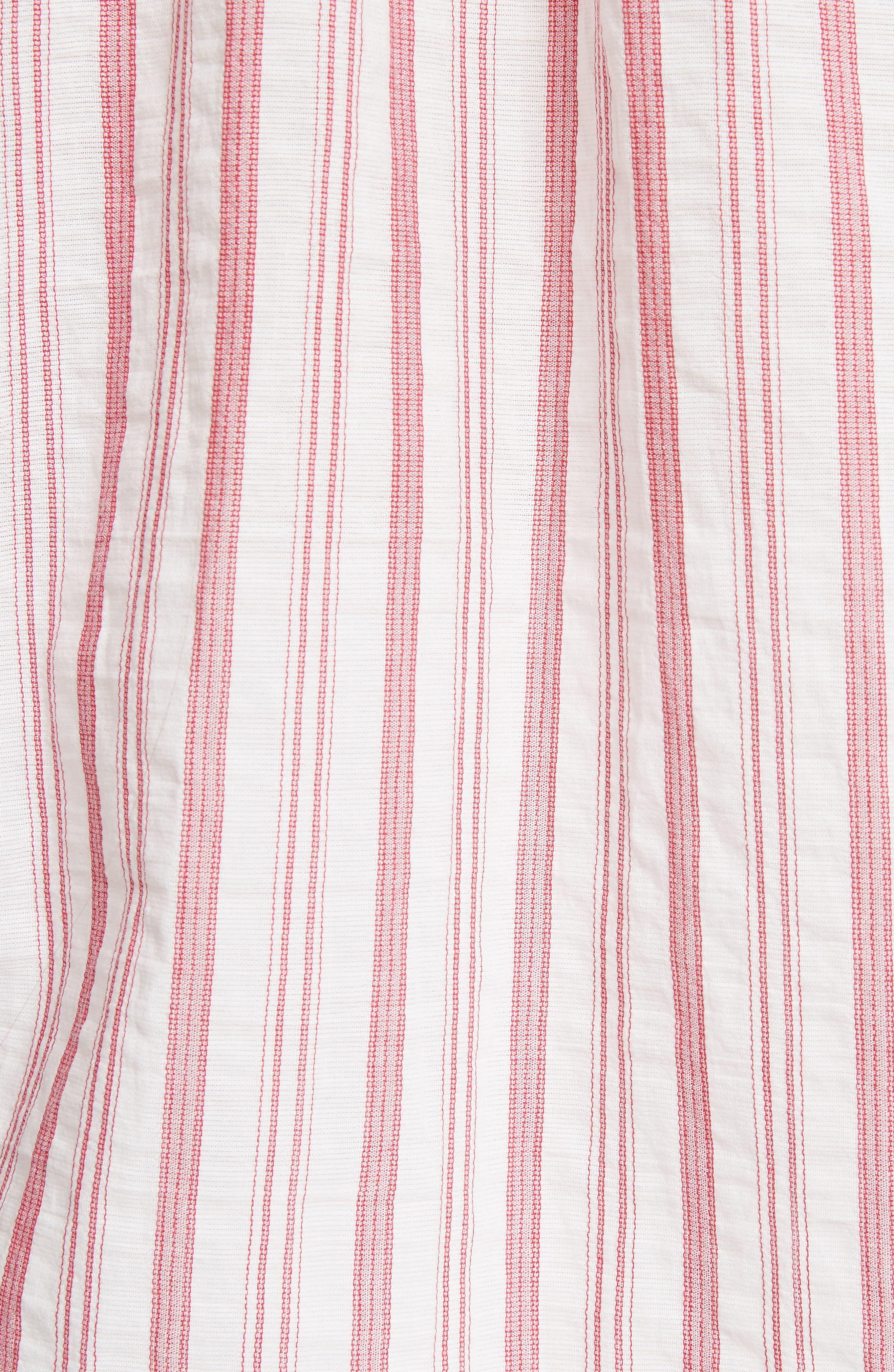 Stripe Cotton Top,                             Alternate thumbnail 5, color,                             604