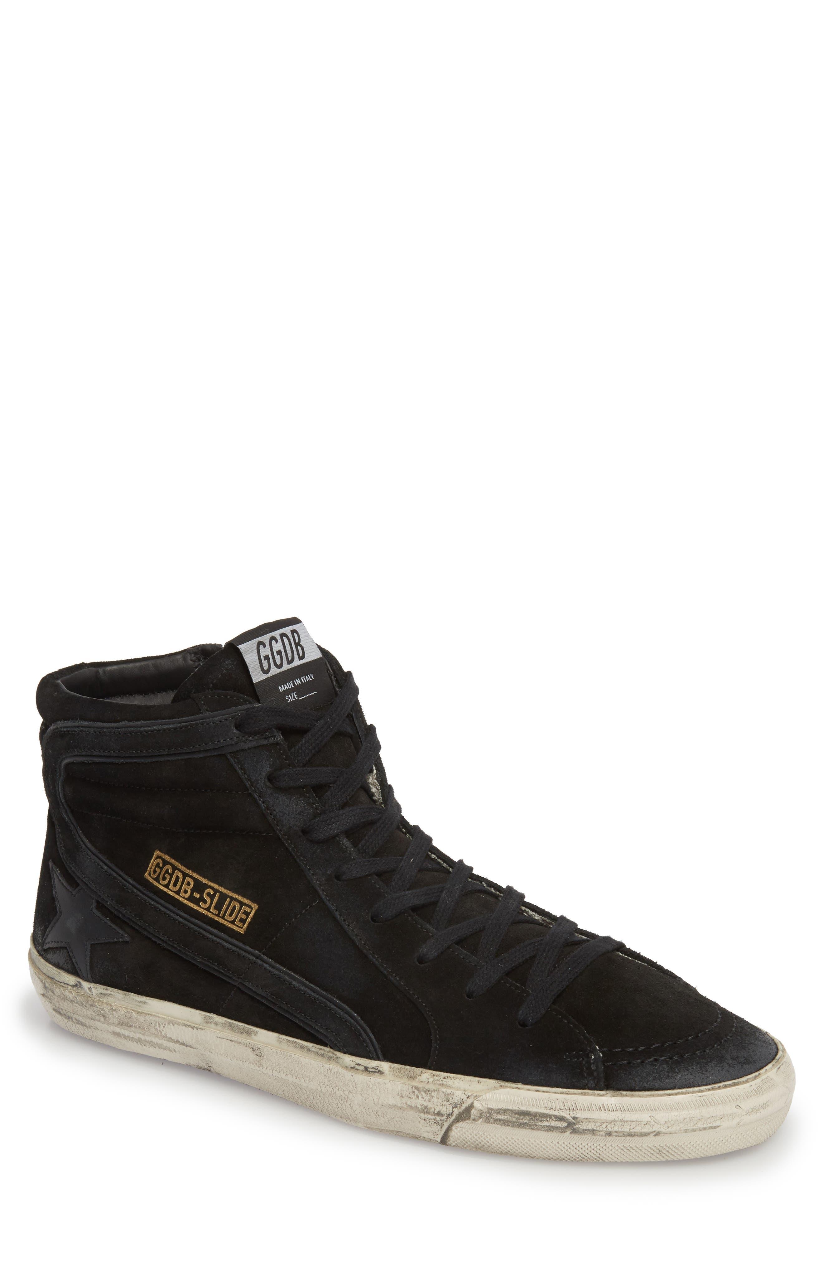 'Slide' Sneaker,                             Main thumbnail 1, color,                             BLACK SUEDE