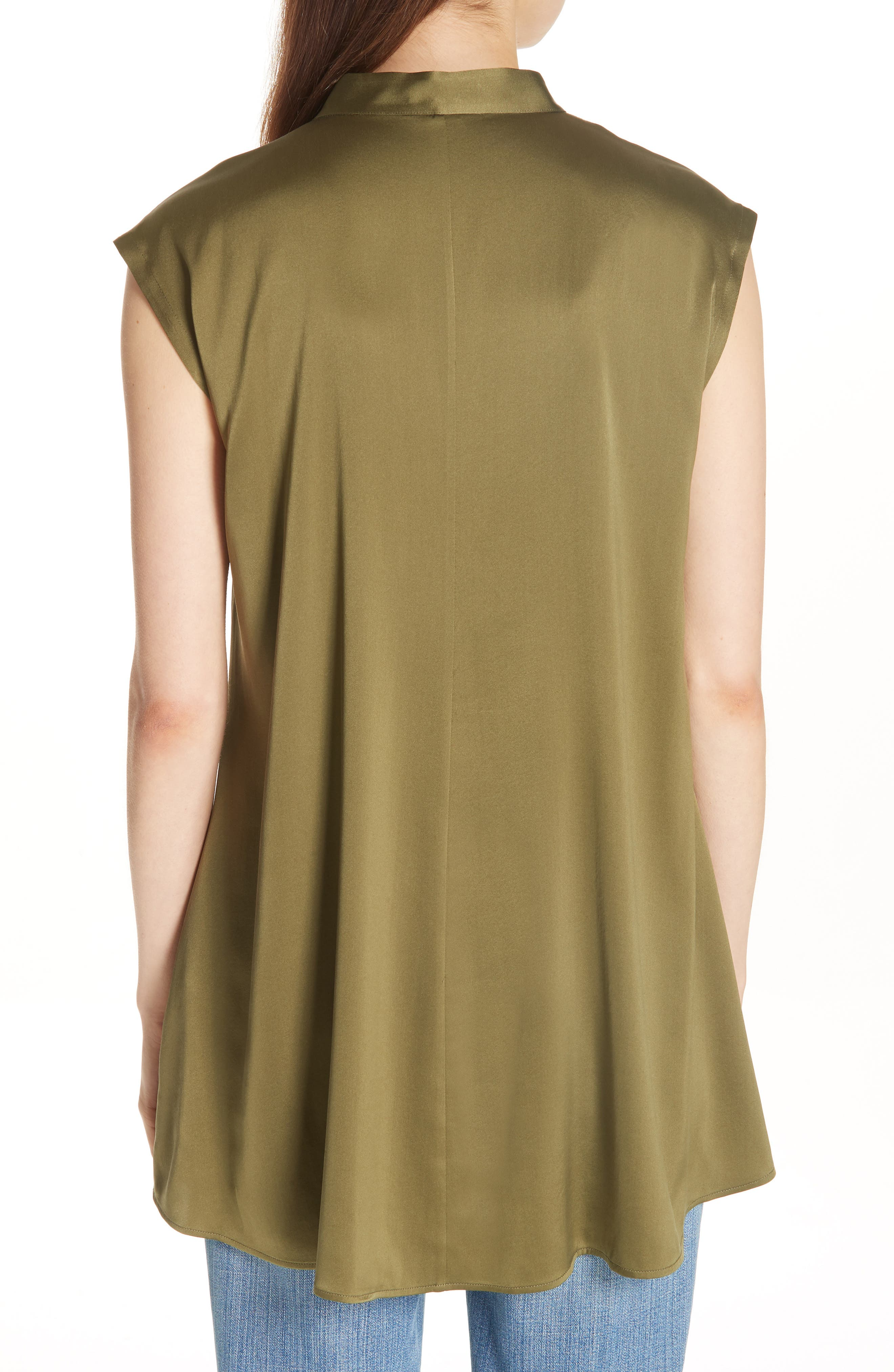 Stretch Silk Top,                             Alternate thumbnail 2, color,                             301
