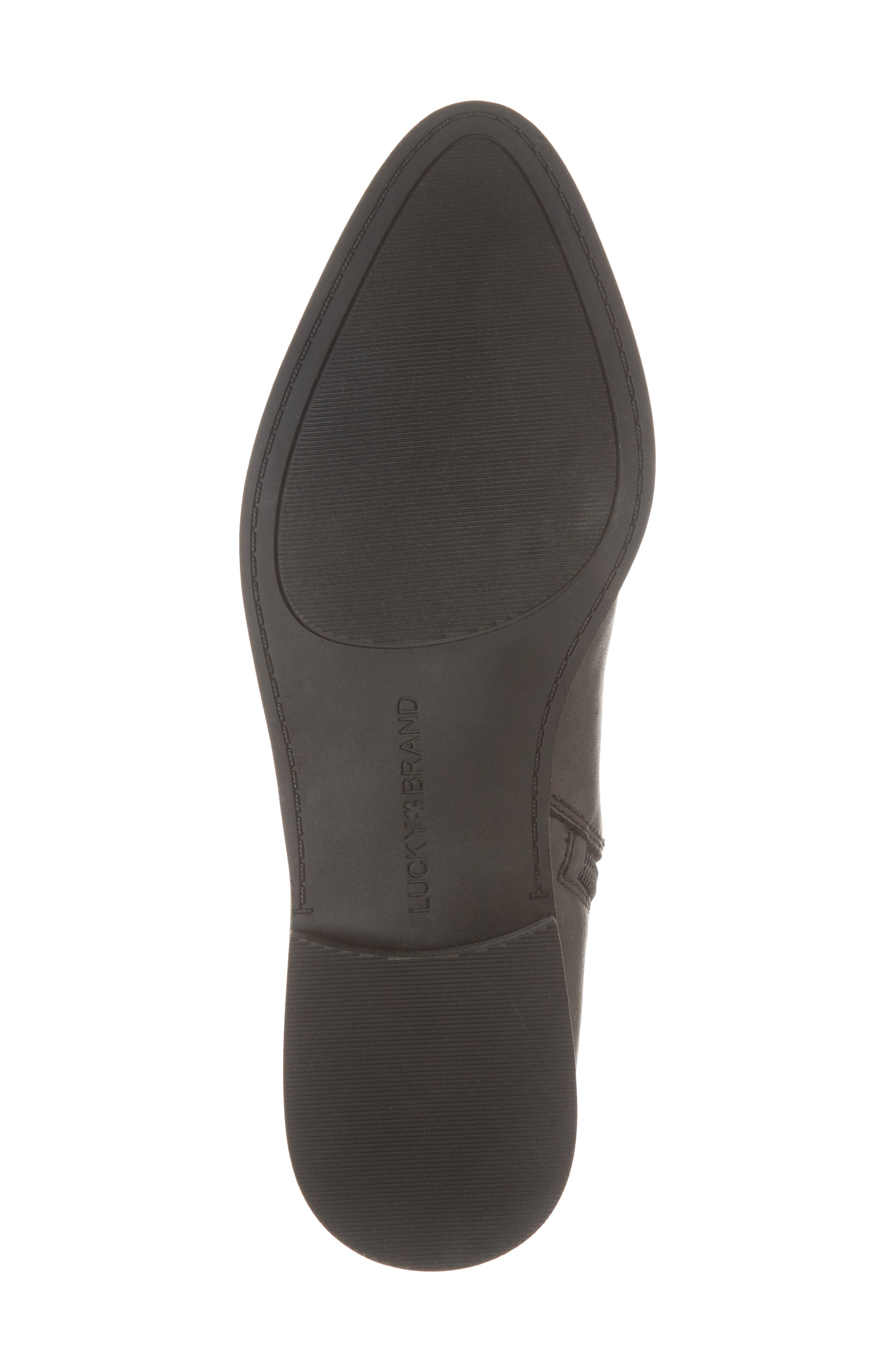 Prucella Bootie,                             Alternate thumbnail 6, color,                             BLACK LEATHER