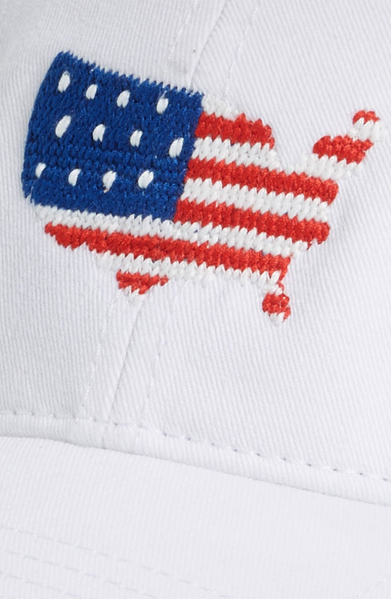 USA Baseball Cap,                             Alternate thumbnail 3, color,                             WHITE