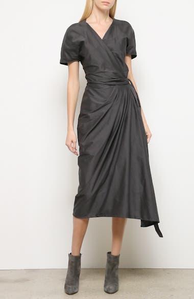 Limo Cotton & Silk Wrap Dress, video thumbnail