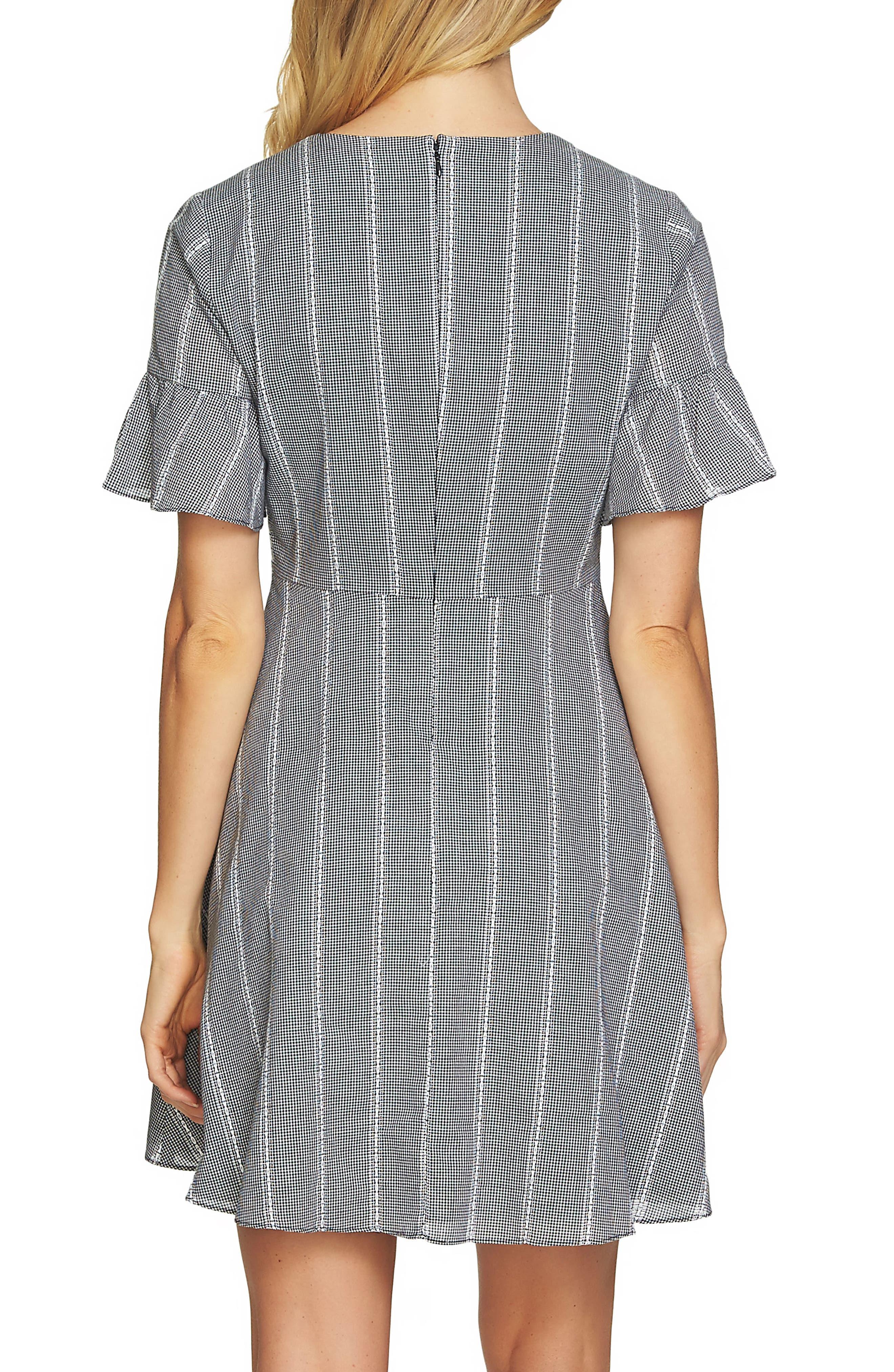 Ruffle Sleeve Pintuck Dress,                             Alternate thumbnail 2, color,                             006