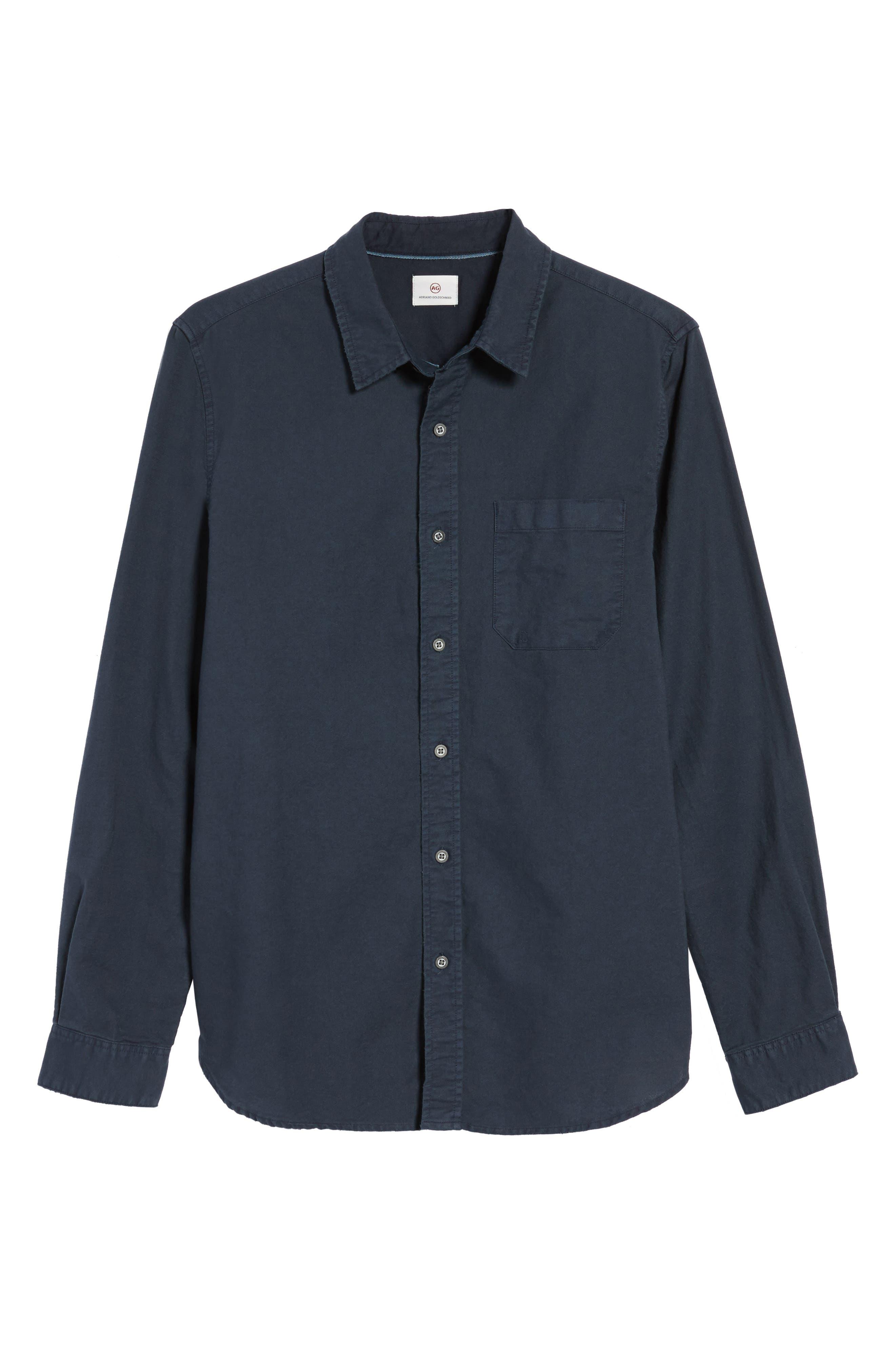 Caleb Slim Fit Twill Sport Shirt,                             Alternate thumbnail 12, color,