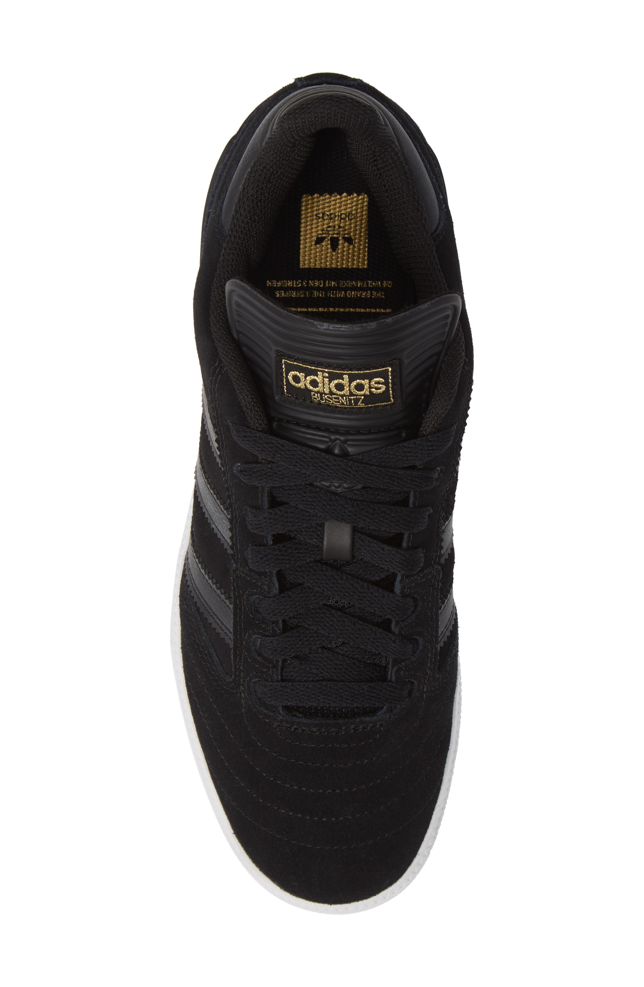 Busenitz Sneaker,                             Alternate thumbnail 5, color,                             BLACK/ BLACK/ WHITE