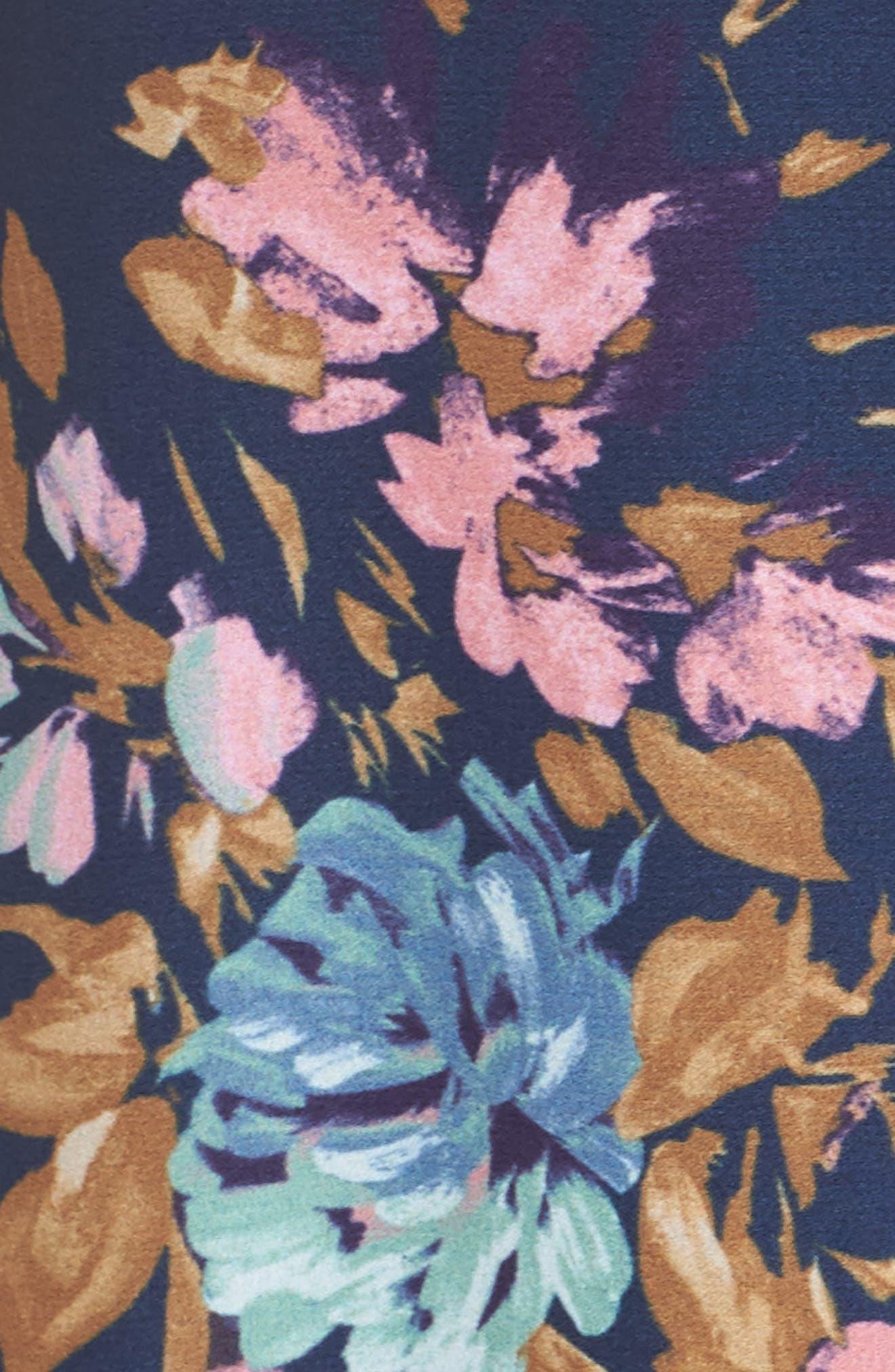 Floral Sleeveless Wrap Dress,                             Alternate thumbnail 6, color,                             473