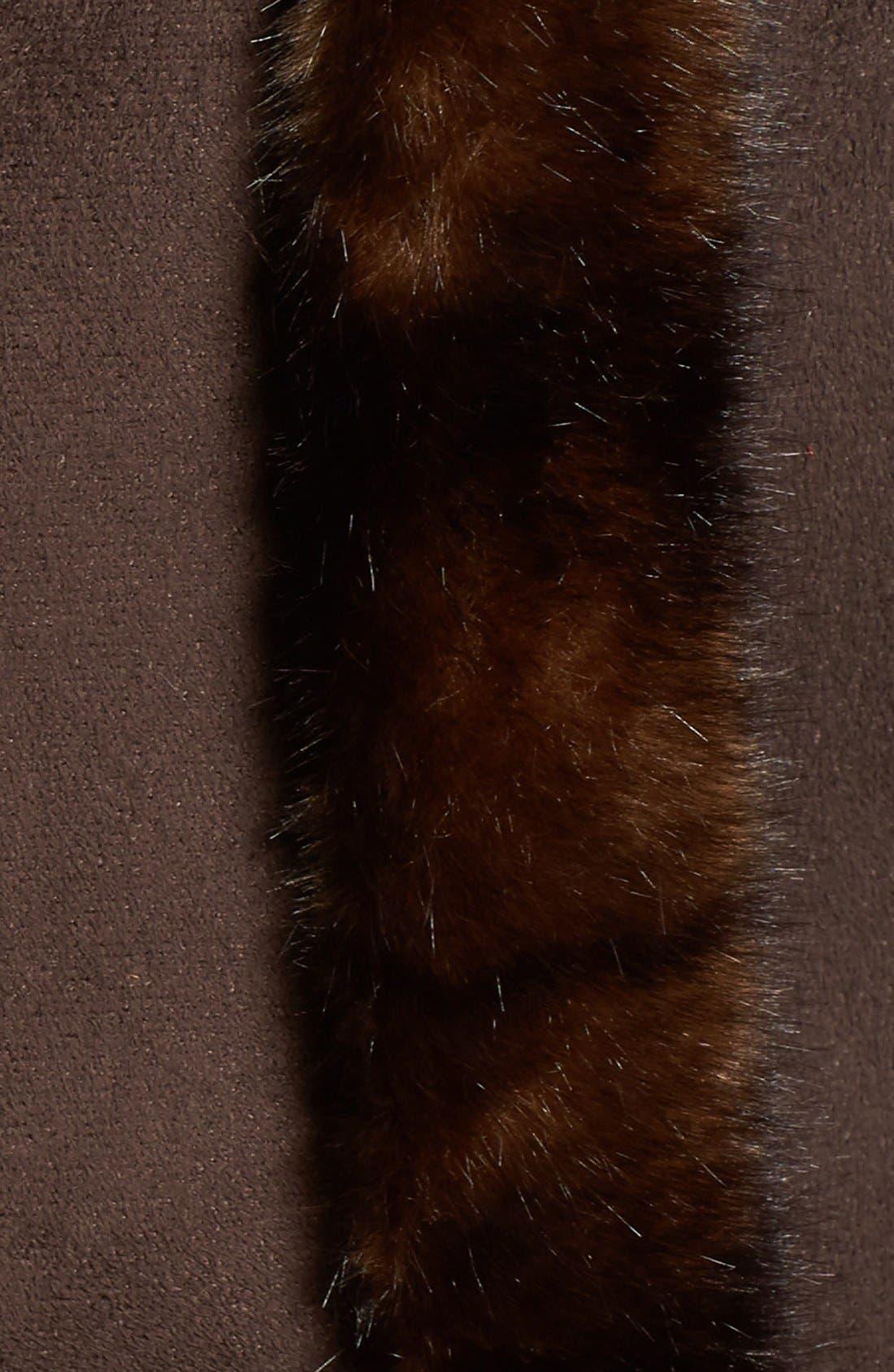 Faux Shearling A-Line Coat,                             Alternate thumbnail 5, color,                             204