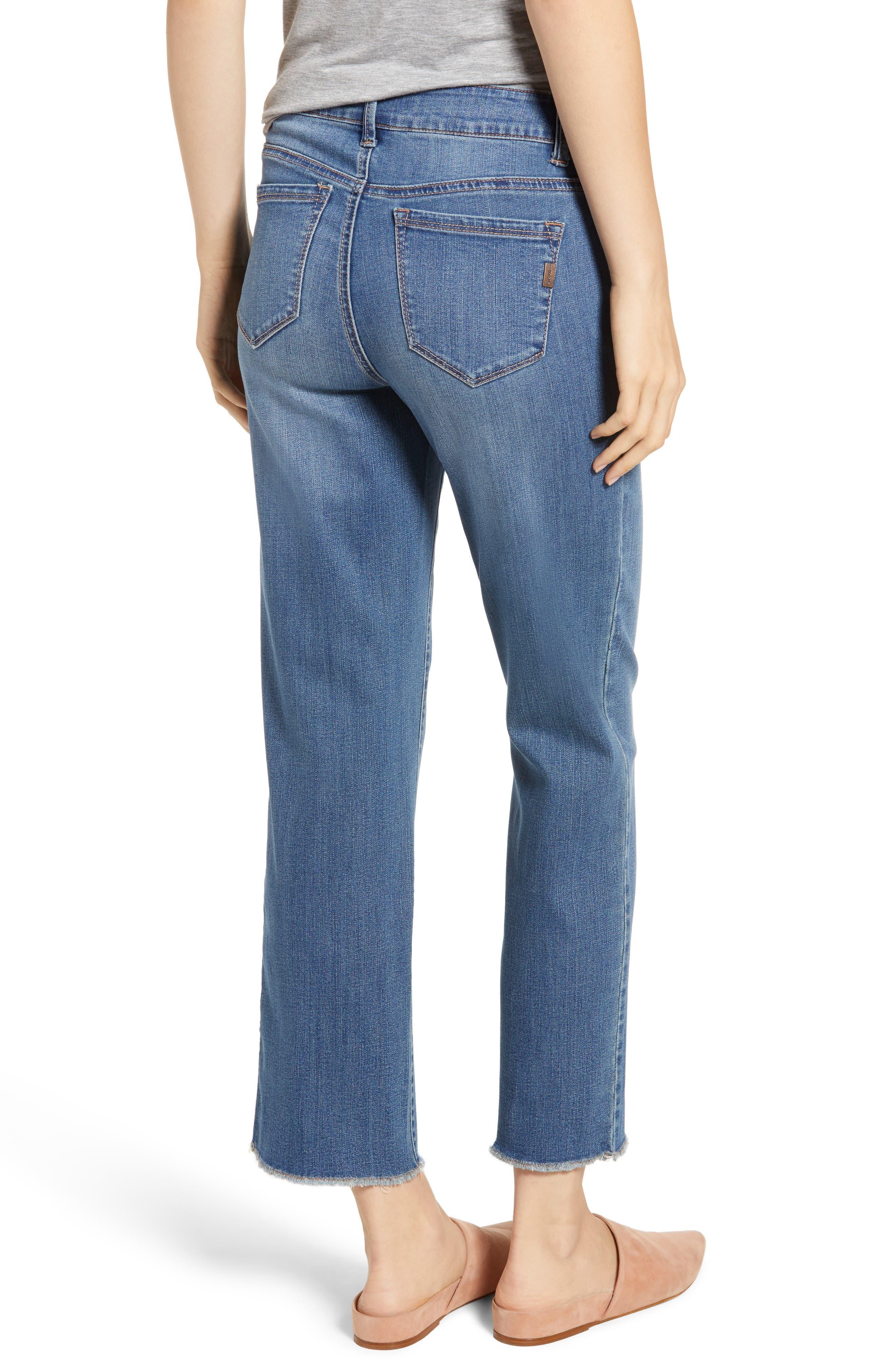 Ankle Straight Leg Jeans,                             Alternate thumbnail 2, color,                             KORN LIGHT WASH