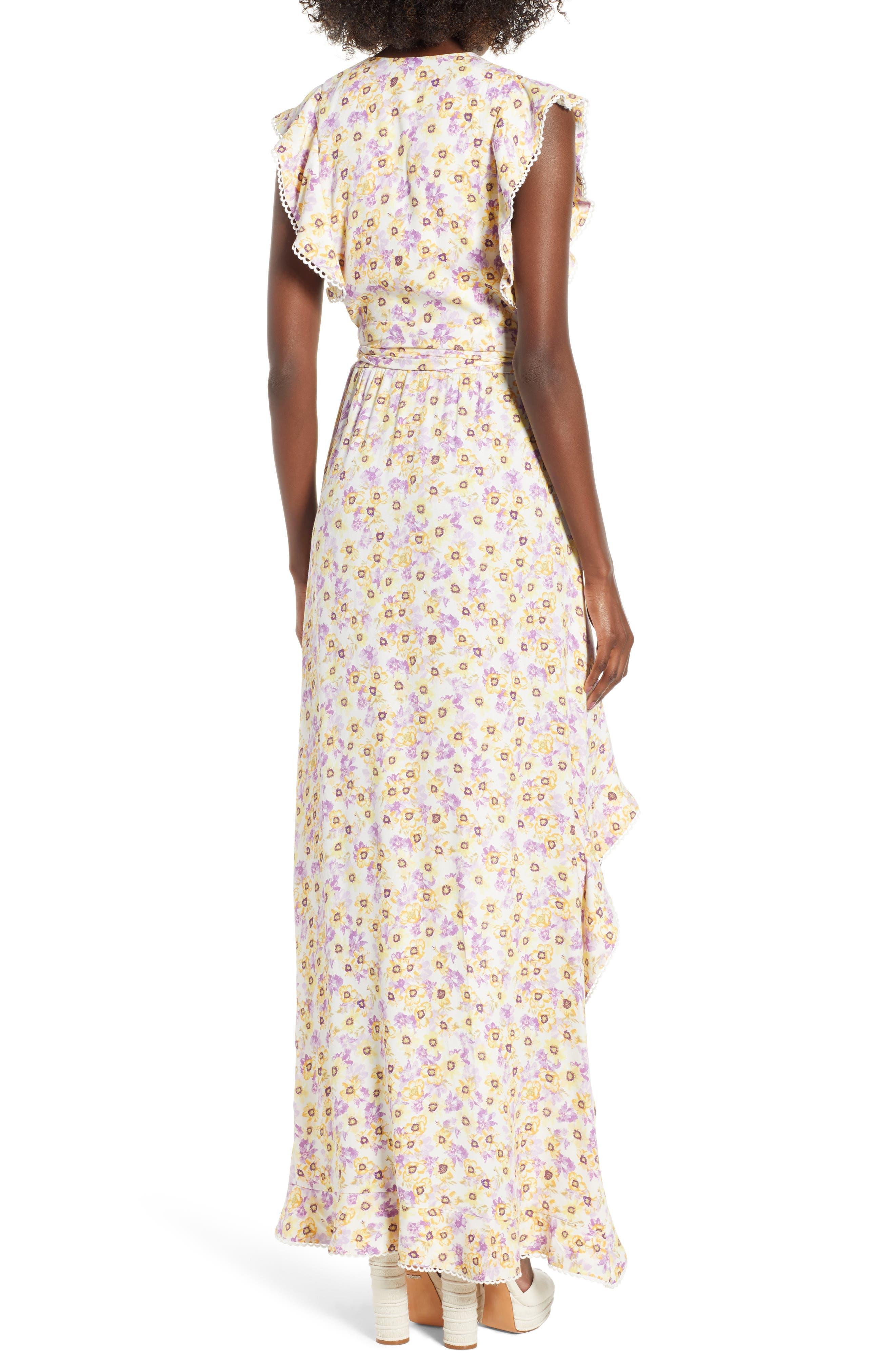 Andrea Ruffle Wrap Dress,                             Alternate thumbnail 6, color,