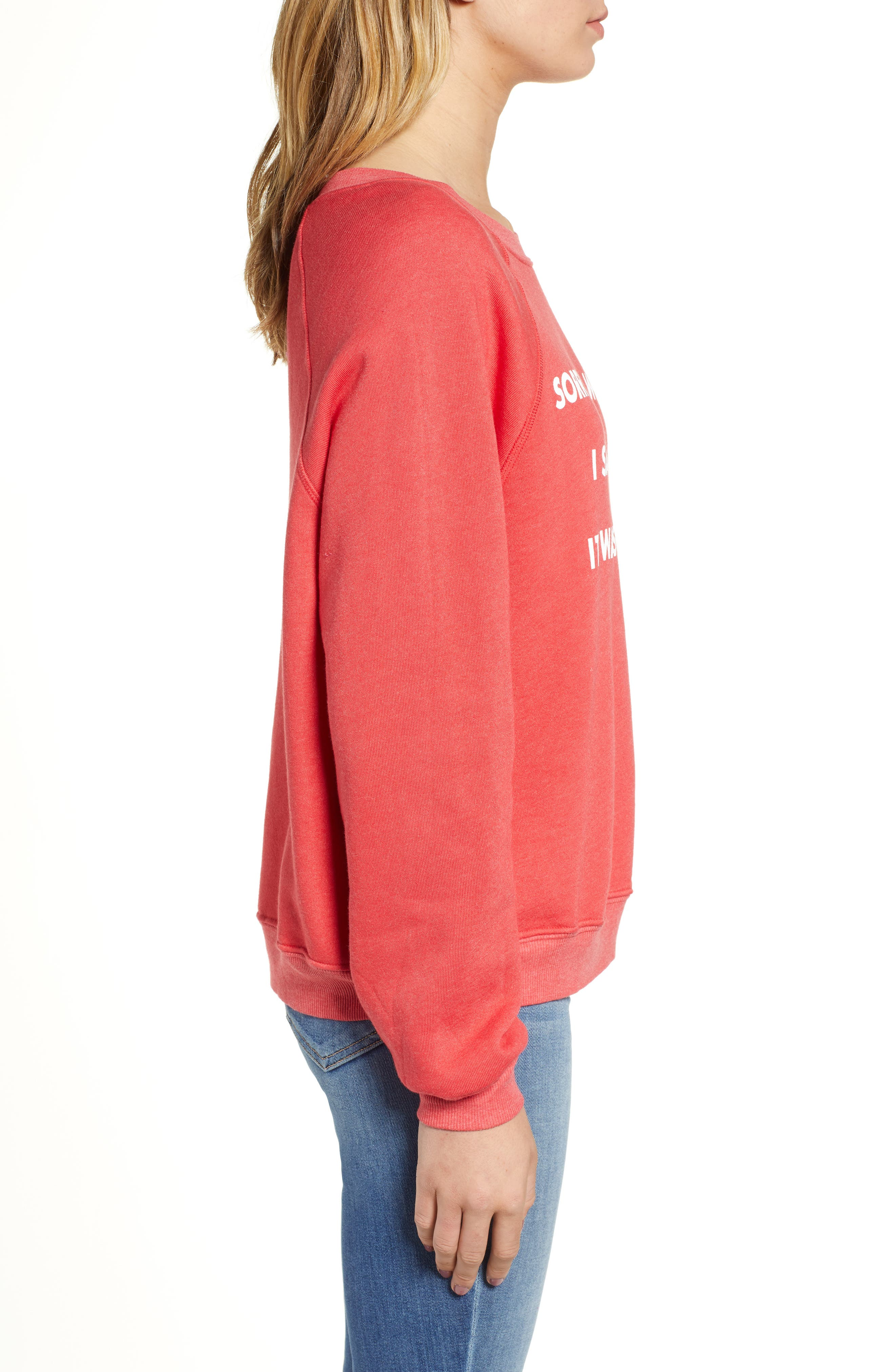 Monday Sommer Sweatshirt,                             Alternate thumbnail 3, color,                             SCARLET