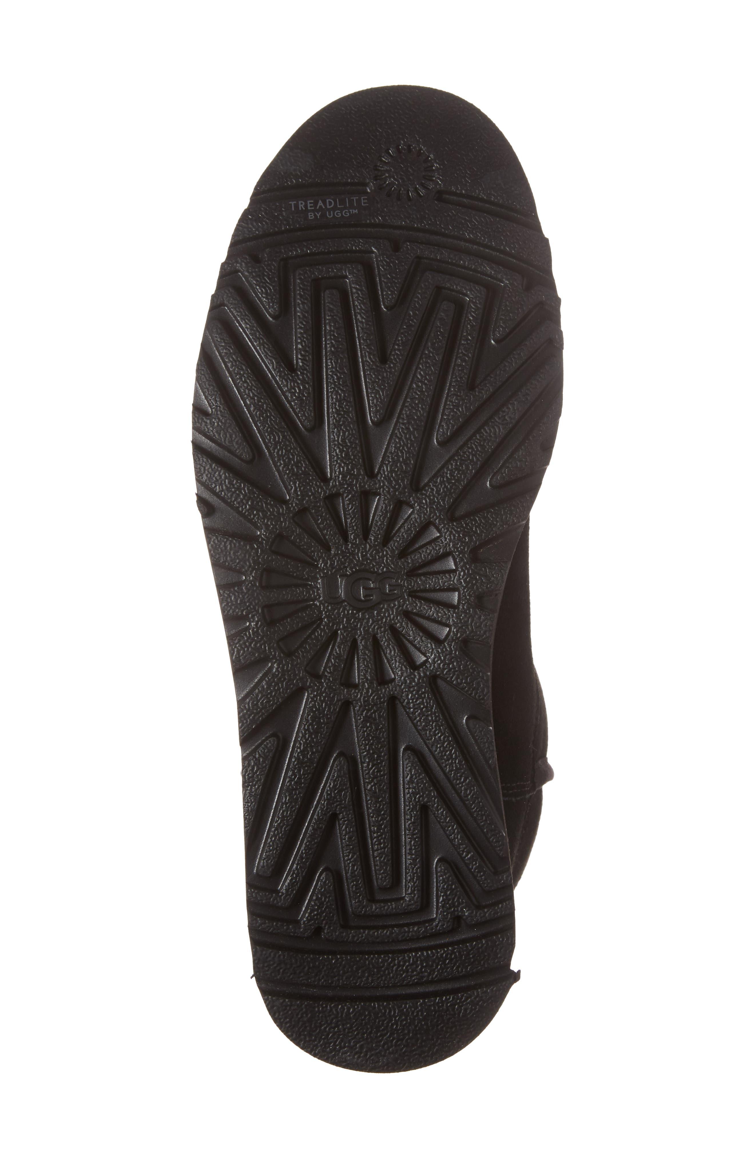 'Michelle' Boot,                             Alternate thumbnail 6, color,                             BLACK SUEDE
