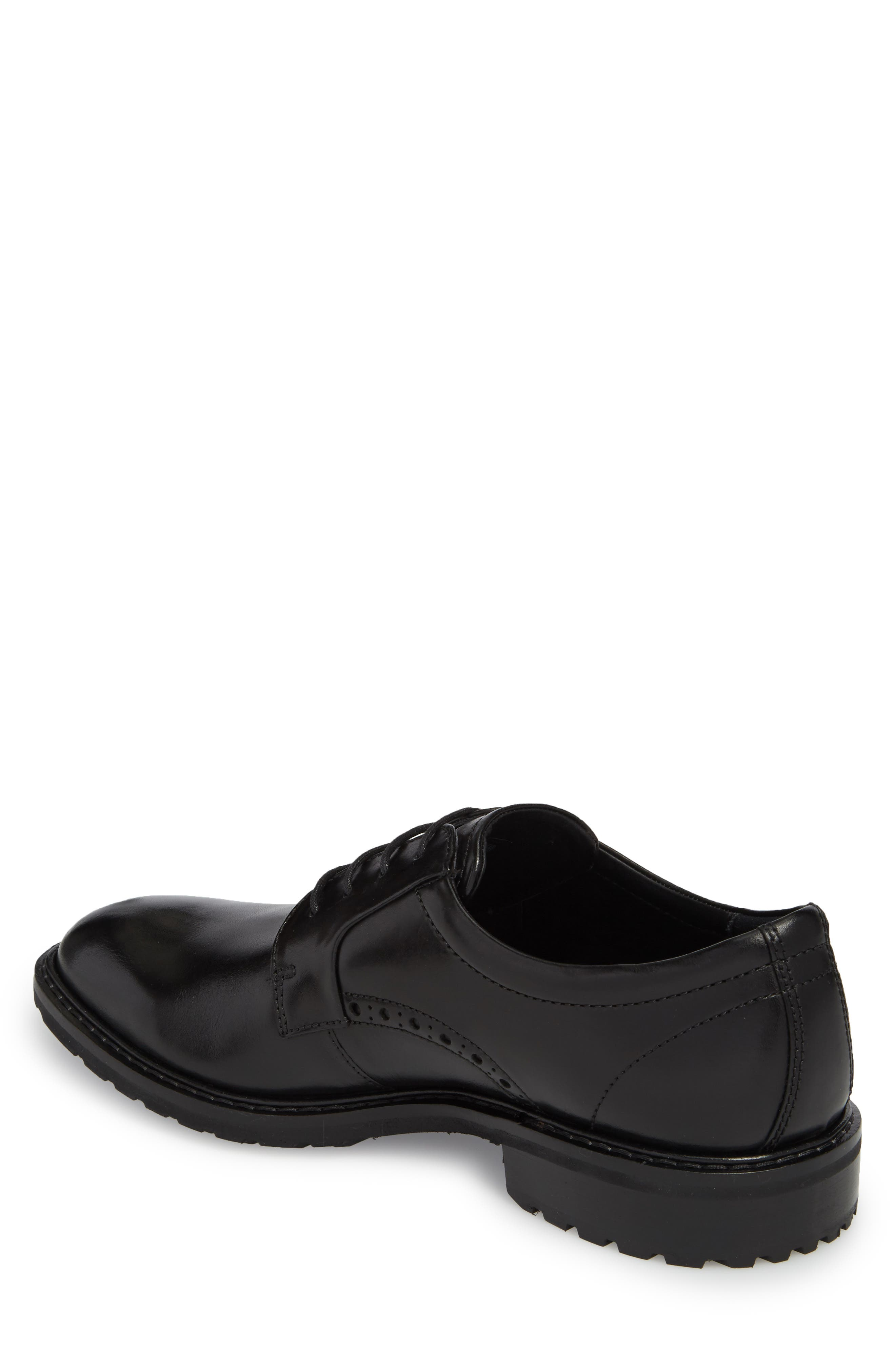 Vitrus I Plain Toe Derby,                             Alternate thumbnail 2, color,                             BLACK LEATHER