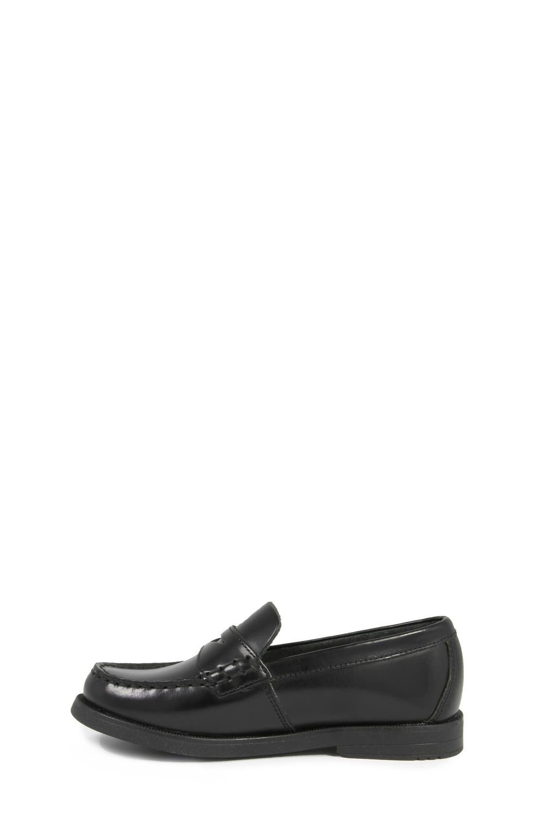 'Croquet' Penny Loafer,                             Alternate thumbnail 6, color,                             BLACK