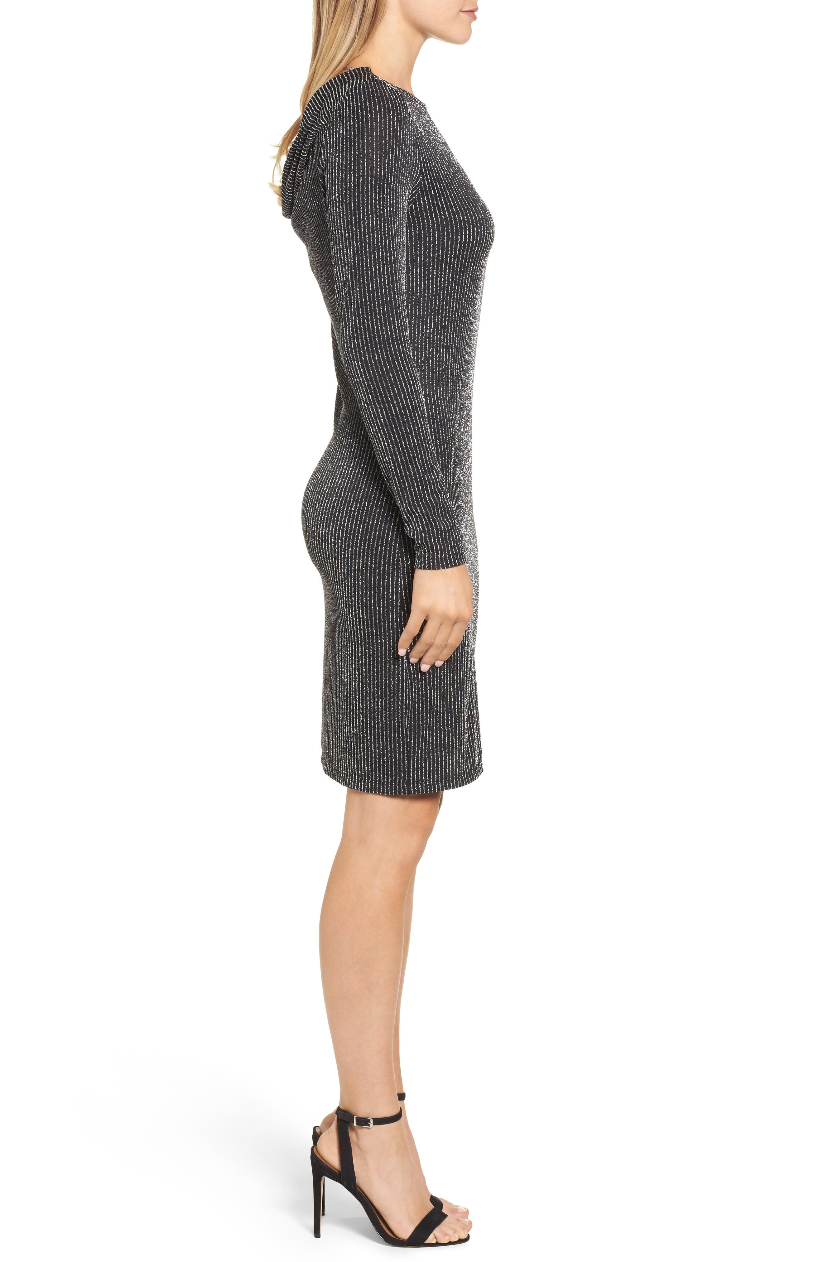 Cowl Back Dress,                             Alternate thumbnail 3, color,                             099